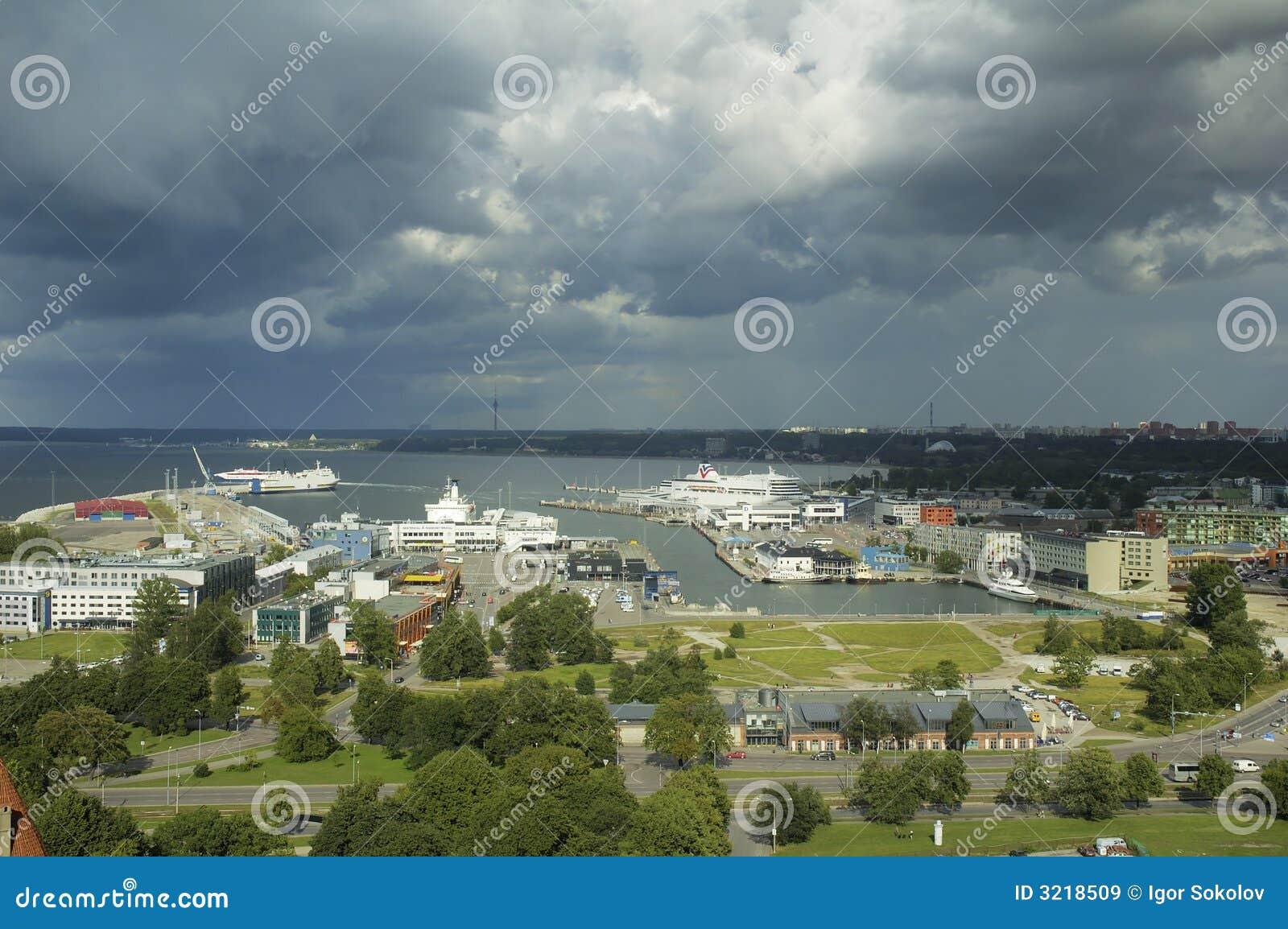 Haven van Tallinn. Estland.