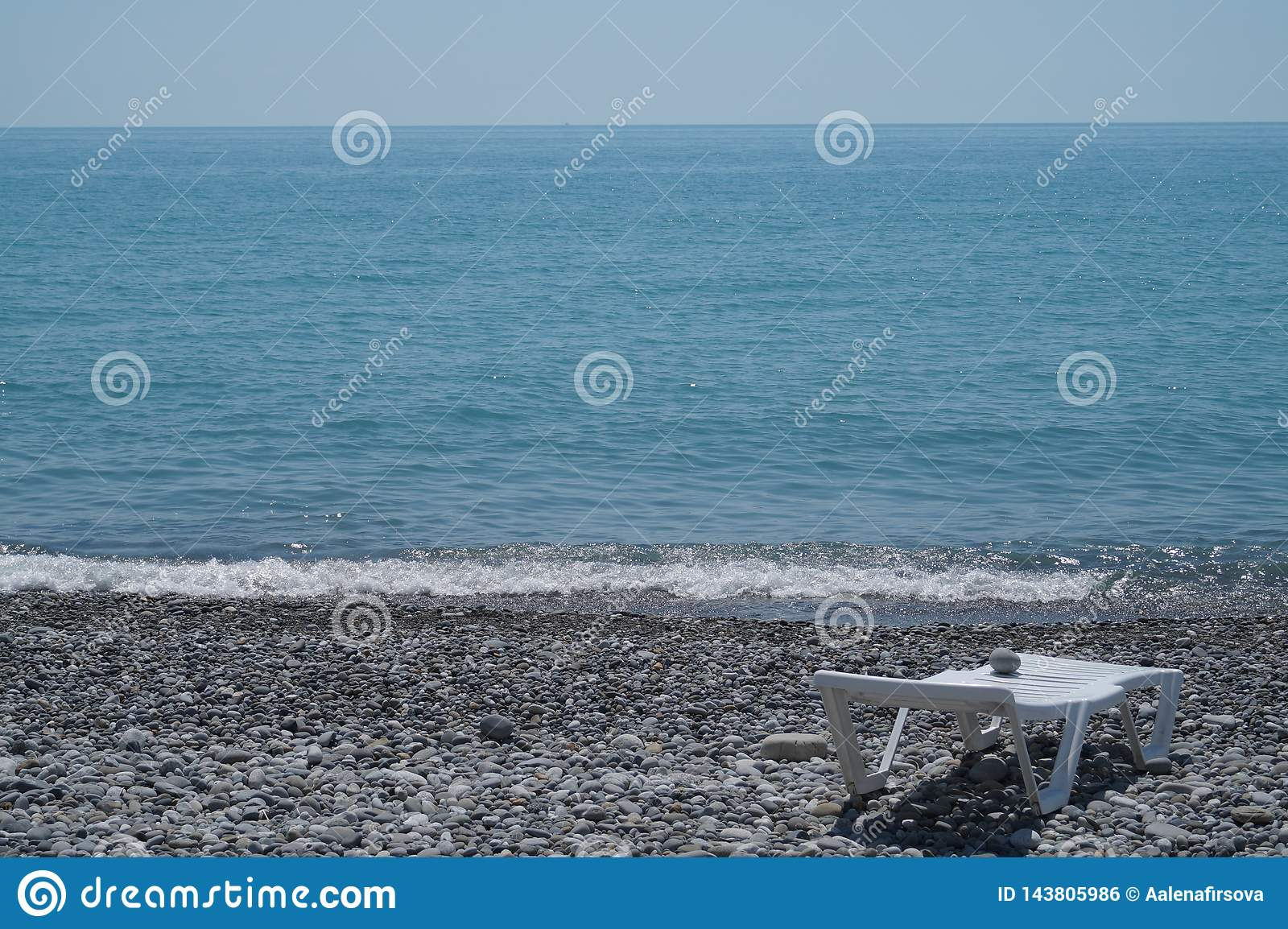 Havet och stranden i Sochi