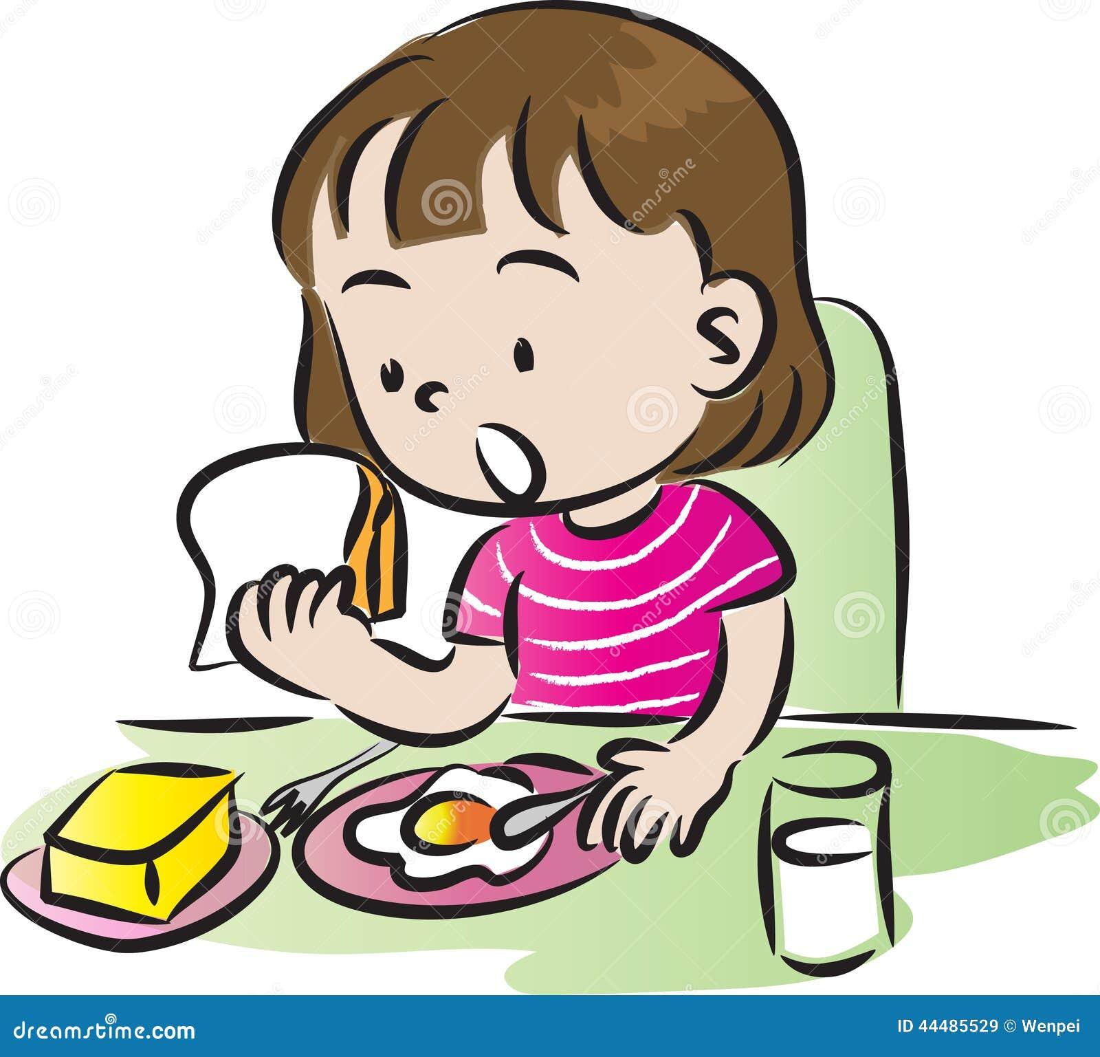 having breakfast stock illustration