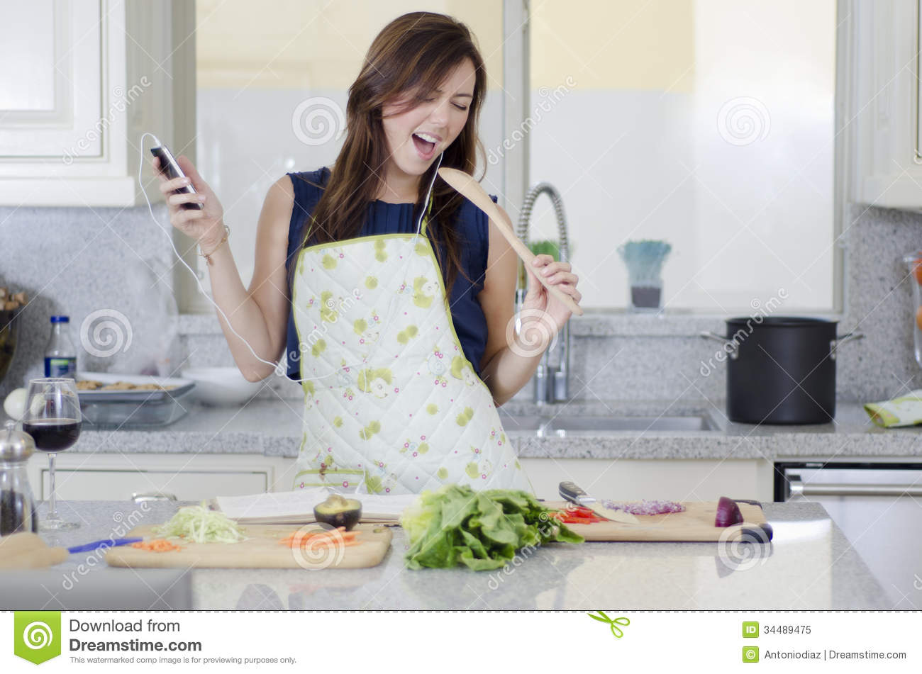 Having Fun In The Kitchen Royalty Free Stock Photo Image