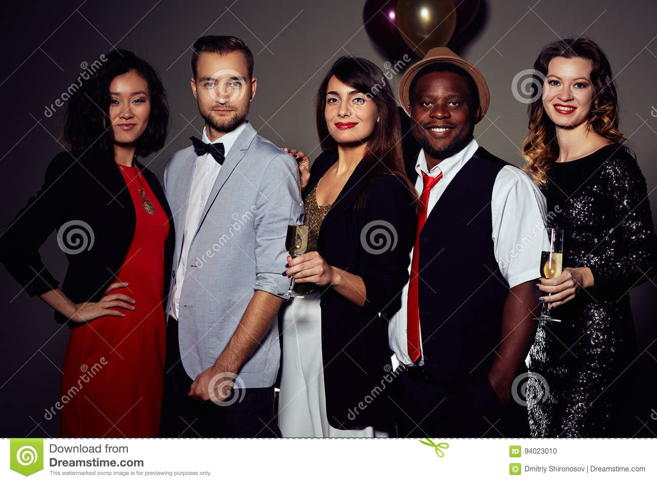 Having Fun In Office Christmas Party Stock Photo - Image of looking ...