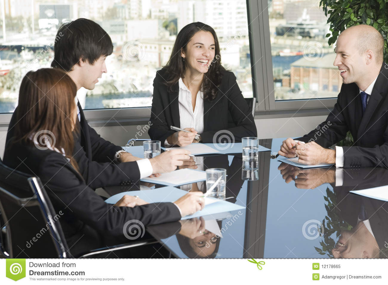 Having Fun At Work During A Job Meeting Royalty Free Stock