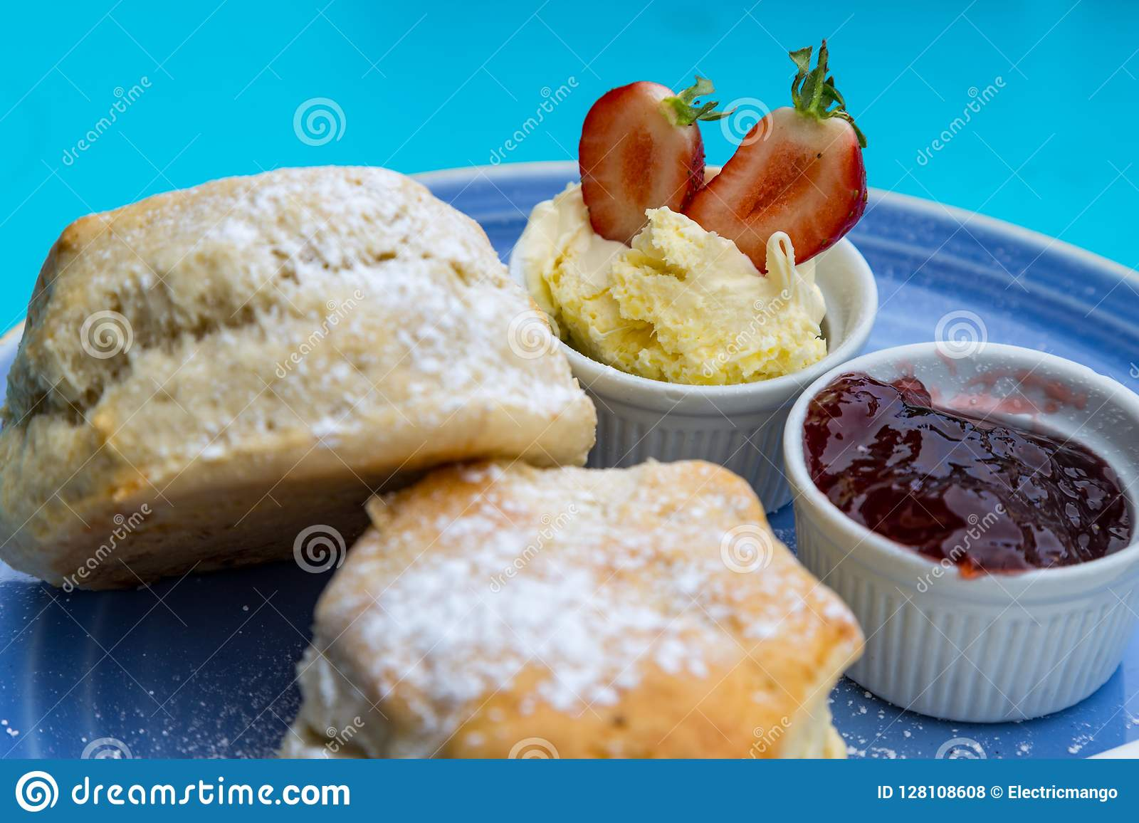 British Cream Tea Stock Photo Image Of British Afternoon 128108608
