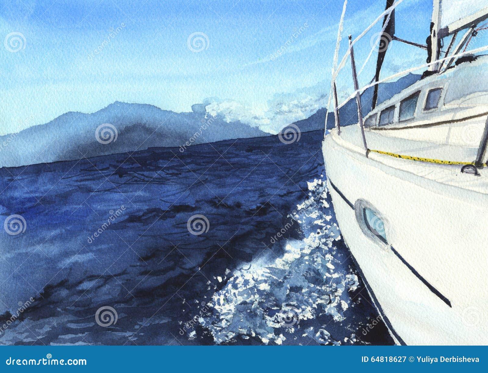 Havsliggande med fartyget