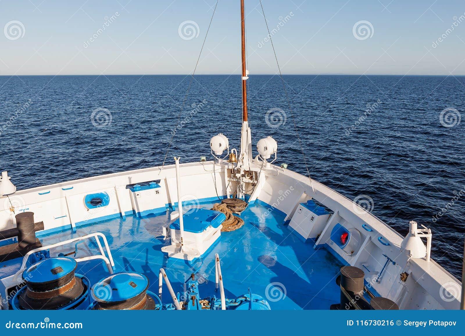 Havssikten från kryssningskeppet
