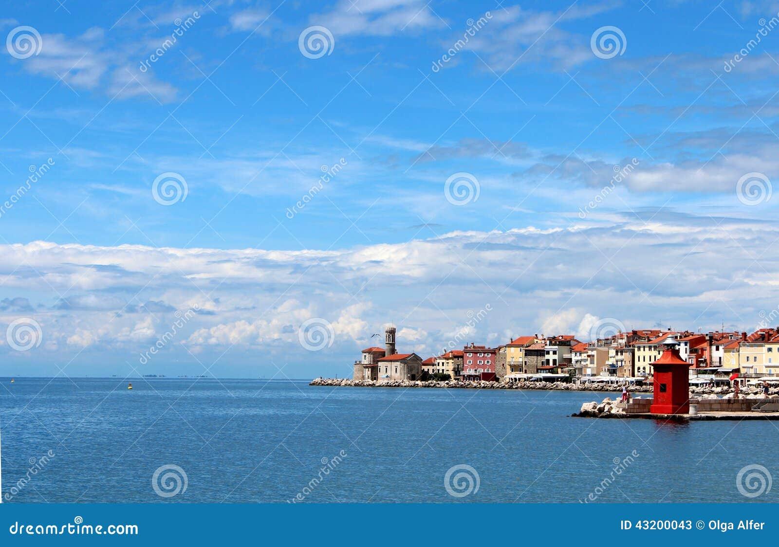 Download Havsstaden fotografering för bildbyråer. Bild av turism - 43200043