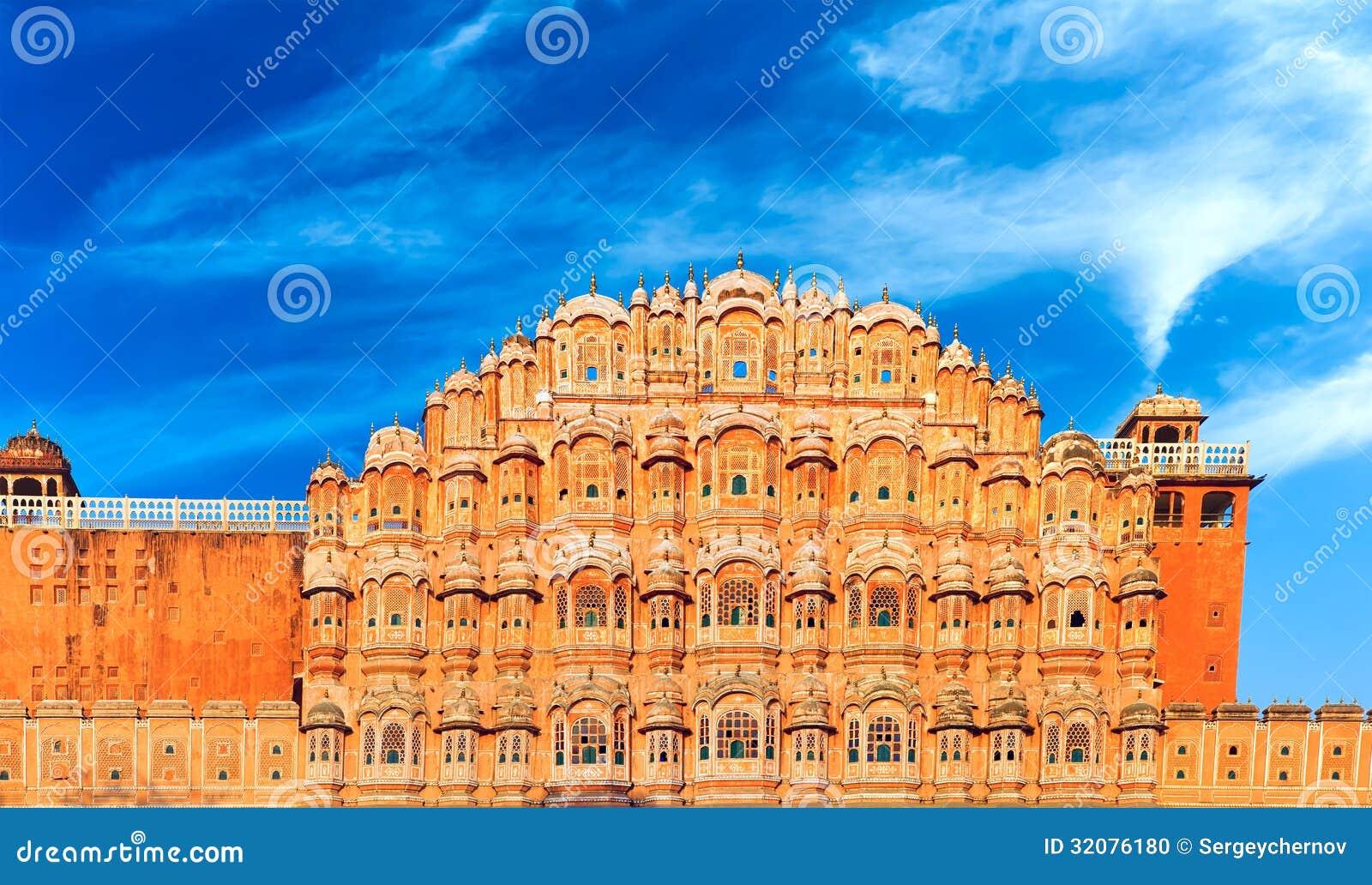 Hawa Mahal Palace in India, Rajasthan, Jaipur. Paleis van Winden