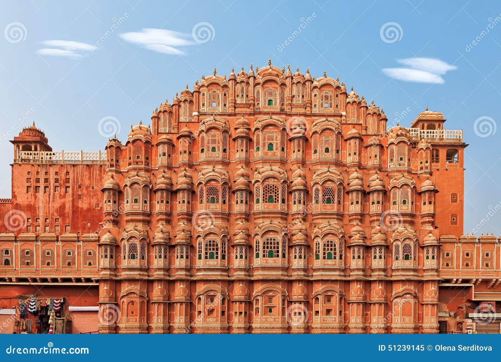 hawa mahal palast der winde in indien stockbild bild von harem palast 51239145. Black Bedroom Furniture Sets. Home Design Ideas