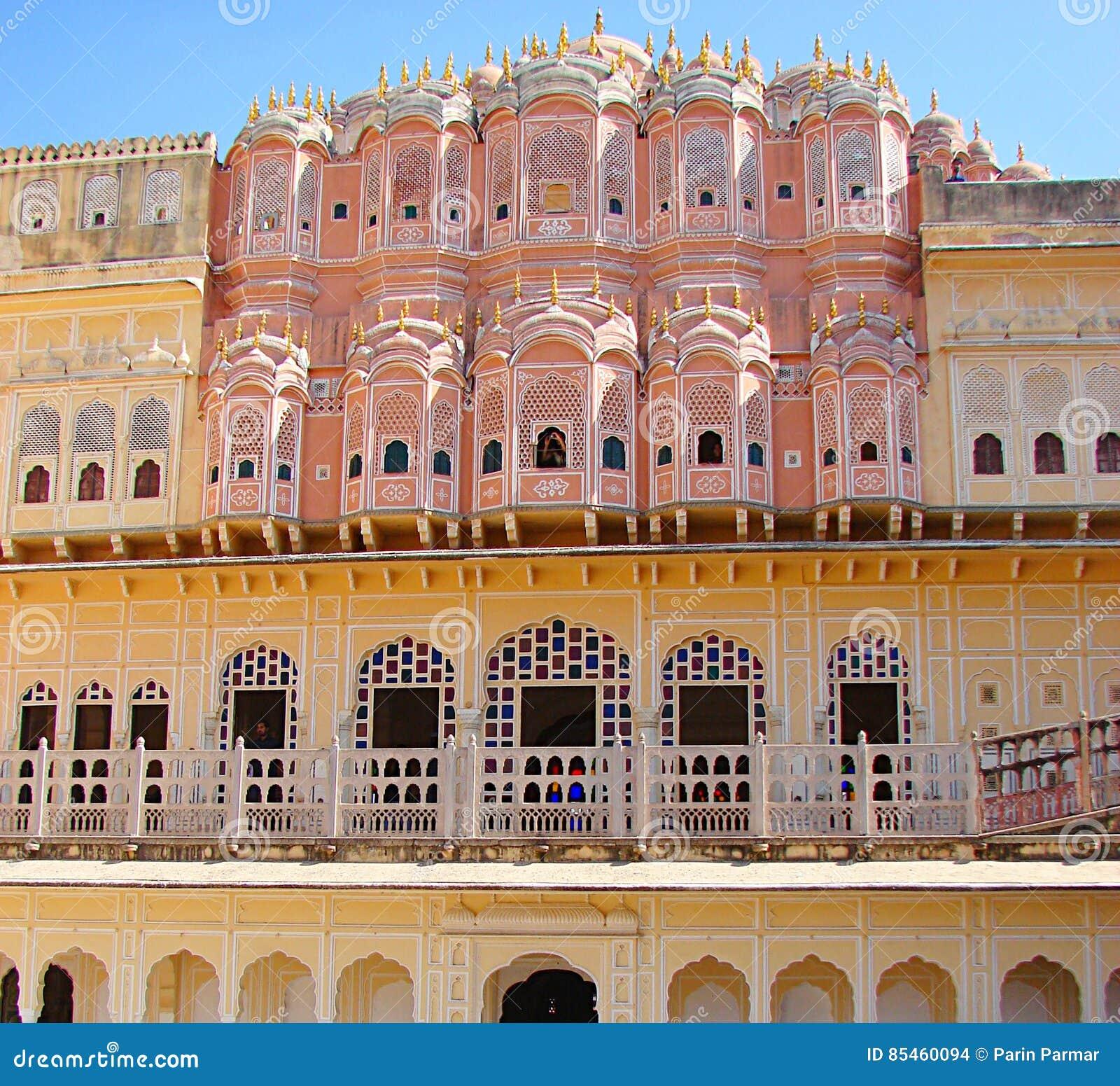 Hawa Mahal-paleis, Jaipur, Rajasthan, India