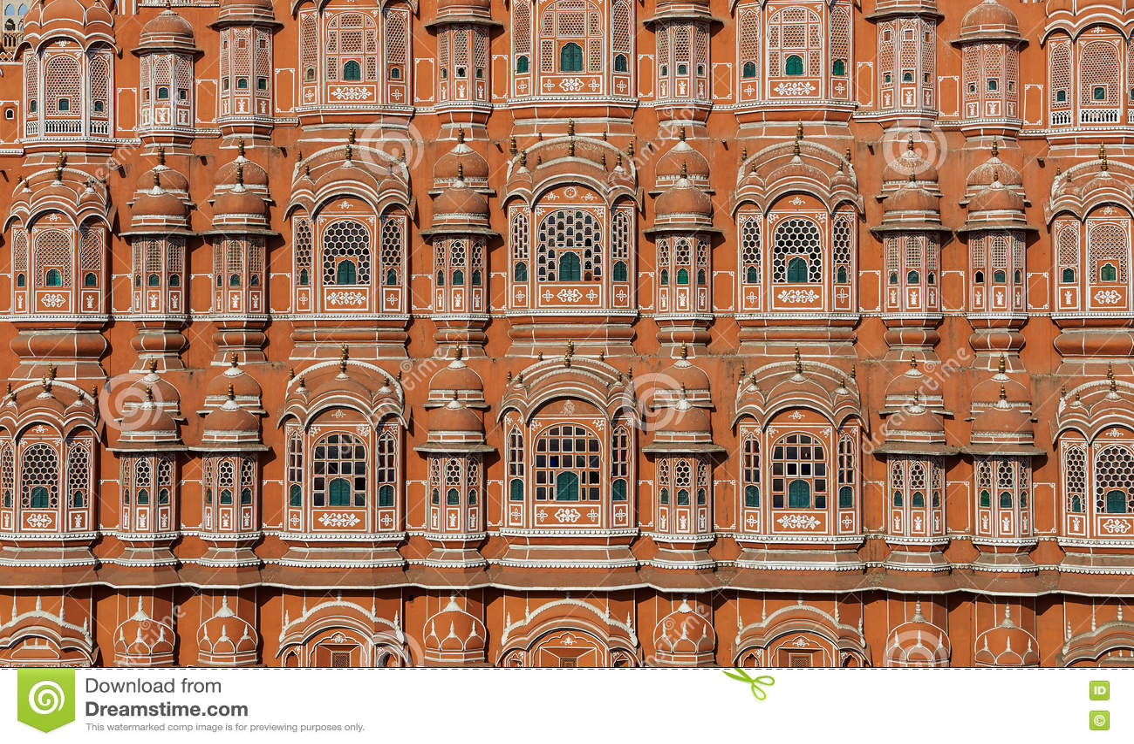 Hawa Mahal, slotten av Winds, Jaipur, Rajasthan, Indien
