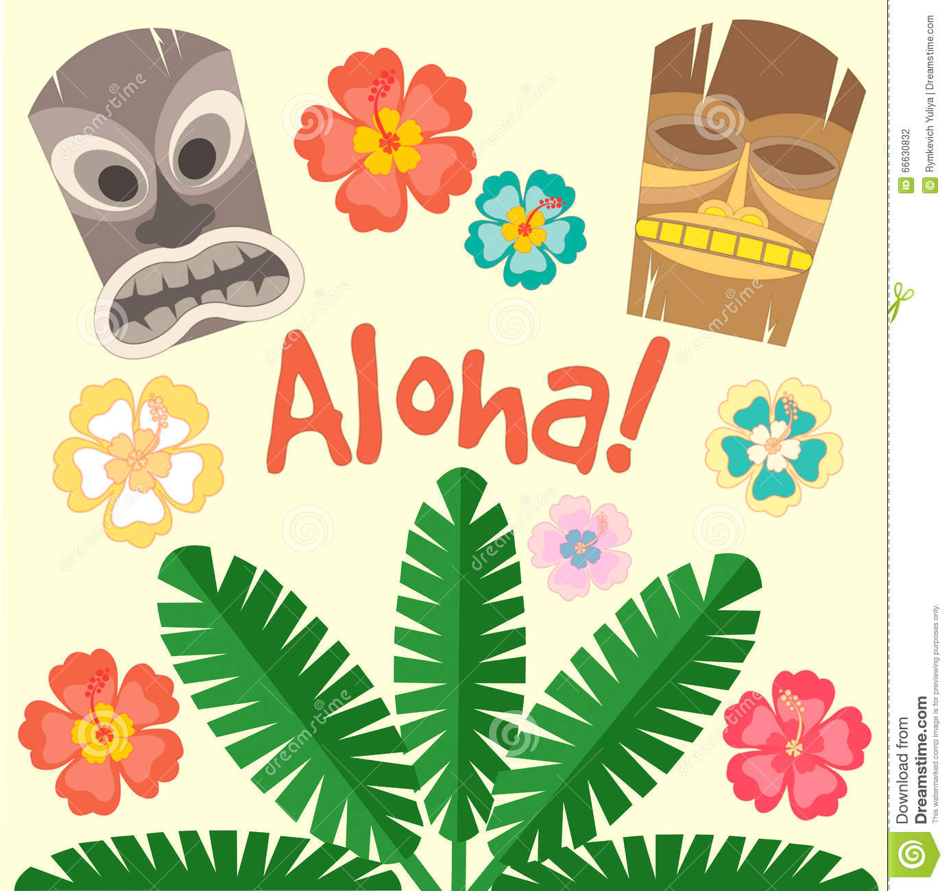 hawaii aloha poster stock vector illustration of drink 66630832 hibiscus flower clip art with letters hibiscus flower clipart