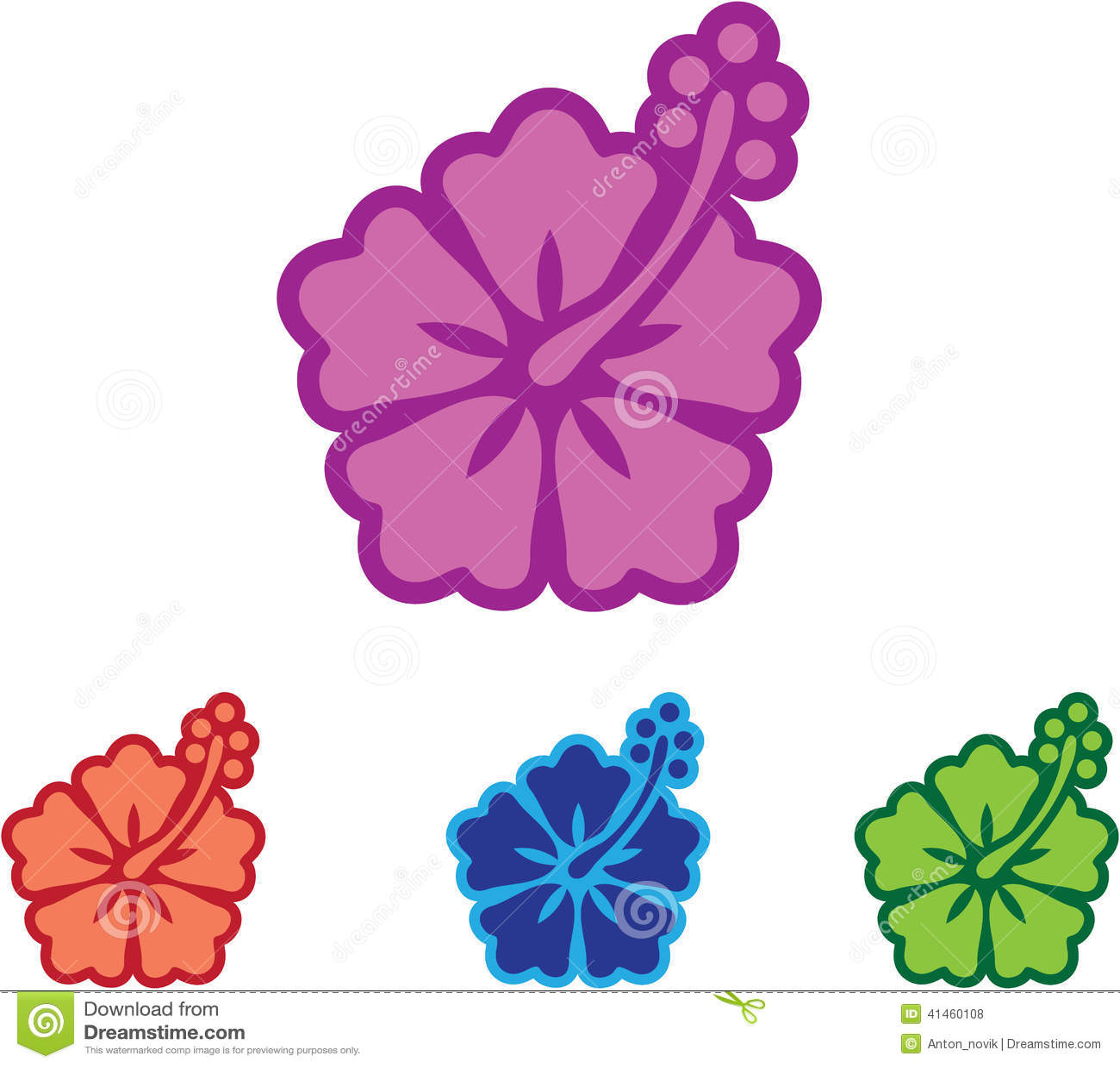 Hawaii flower stock vector illustration of pistil floral 41460108 hawaii flower izmirmasajfo