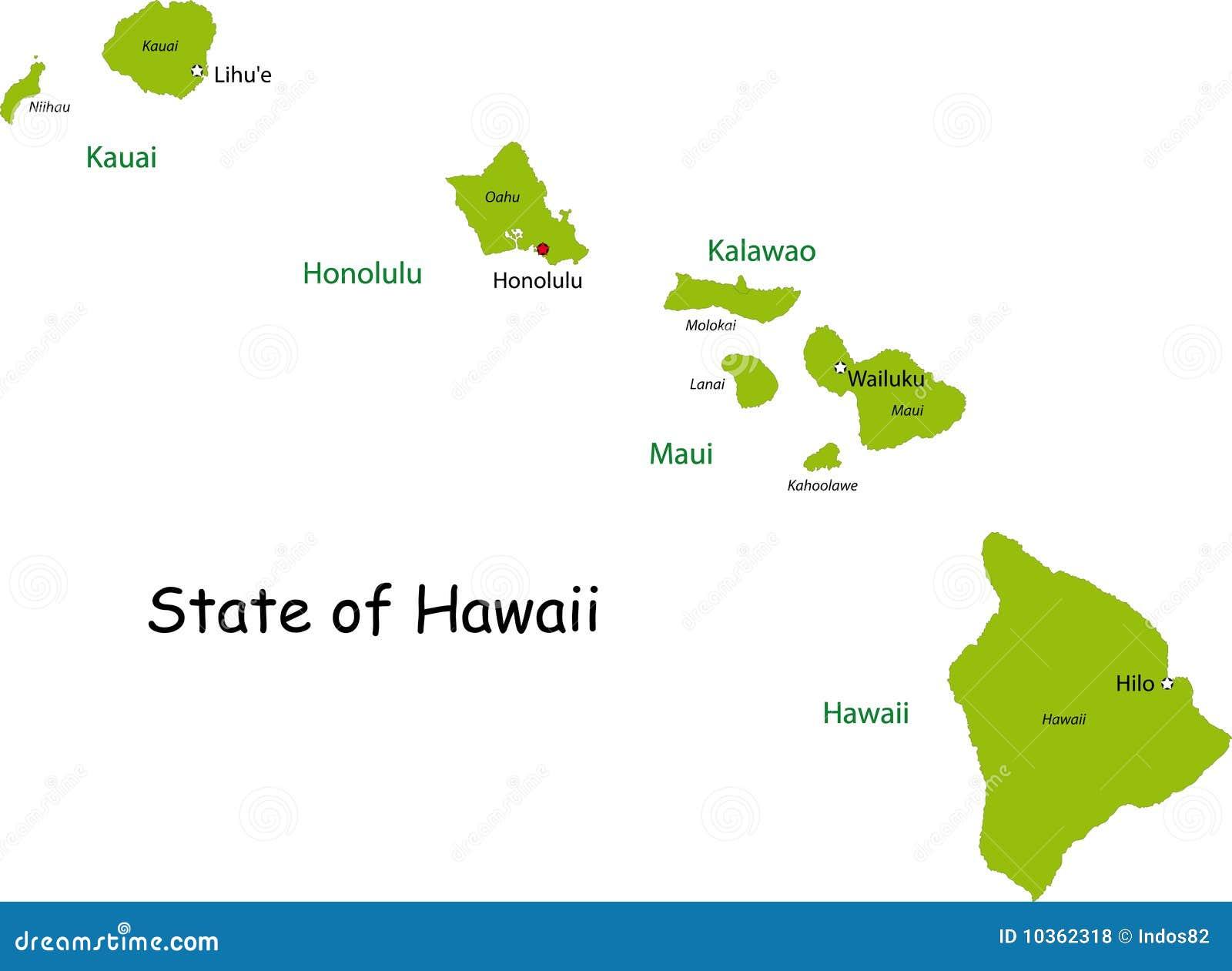 Us Map Hawaii Islands