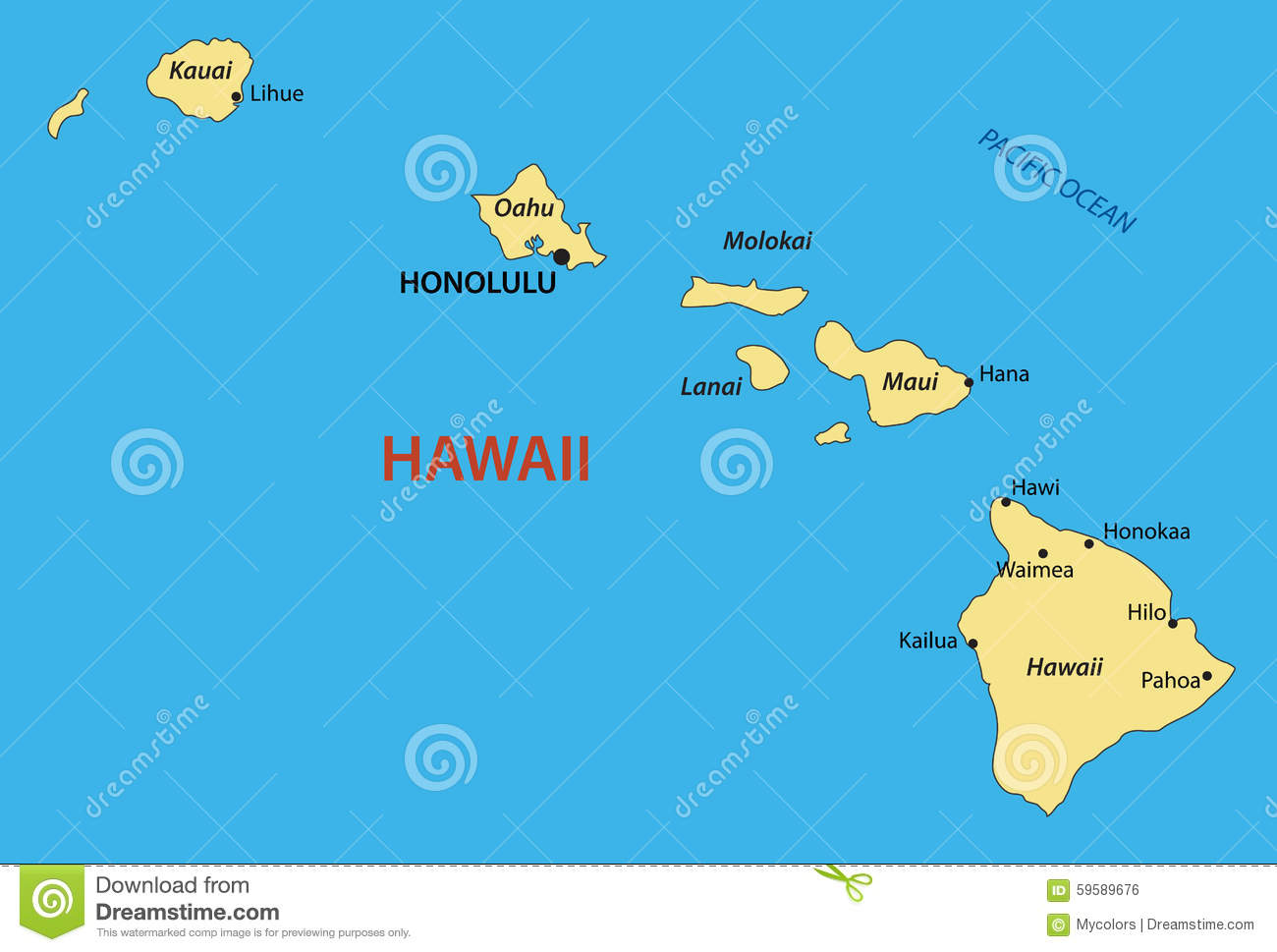 hawaii map vector illustration stock vector image hawaiian clip art free hawaiian clip art borders