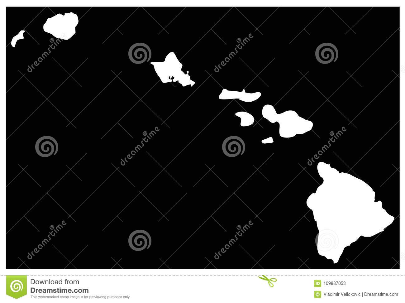 Hawaii Map - U.S. State Located In Oceania Stock Vector ...