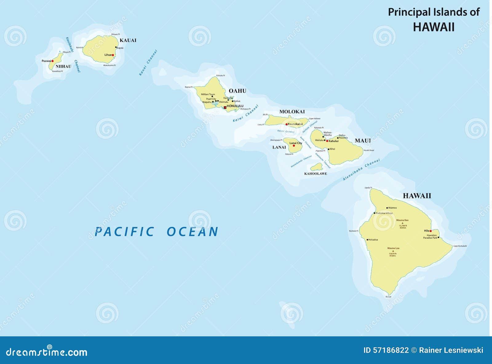 Map Usa States Canada Provinces Hawaii Stock Vector  Map - World map with latitude and longitude hawaii