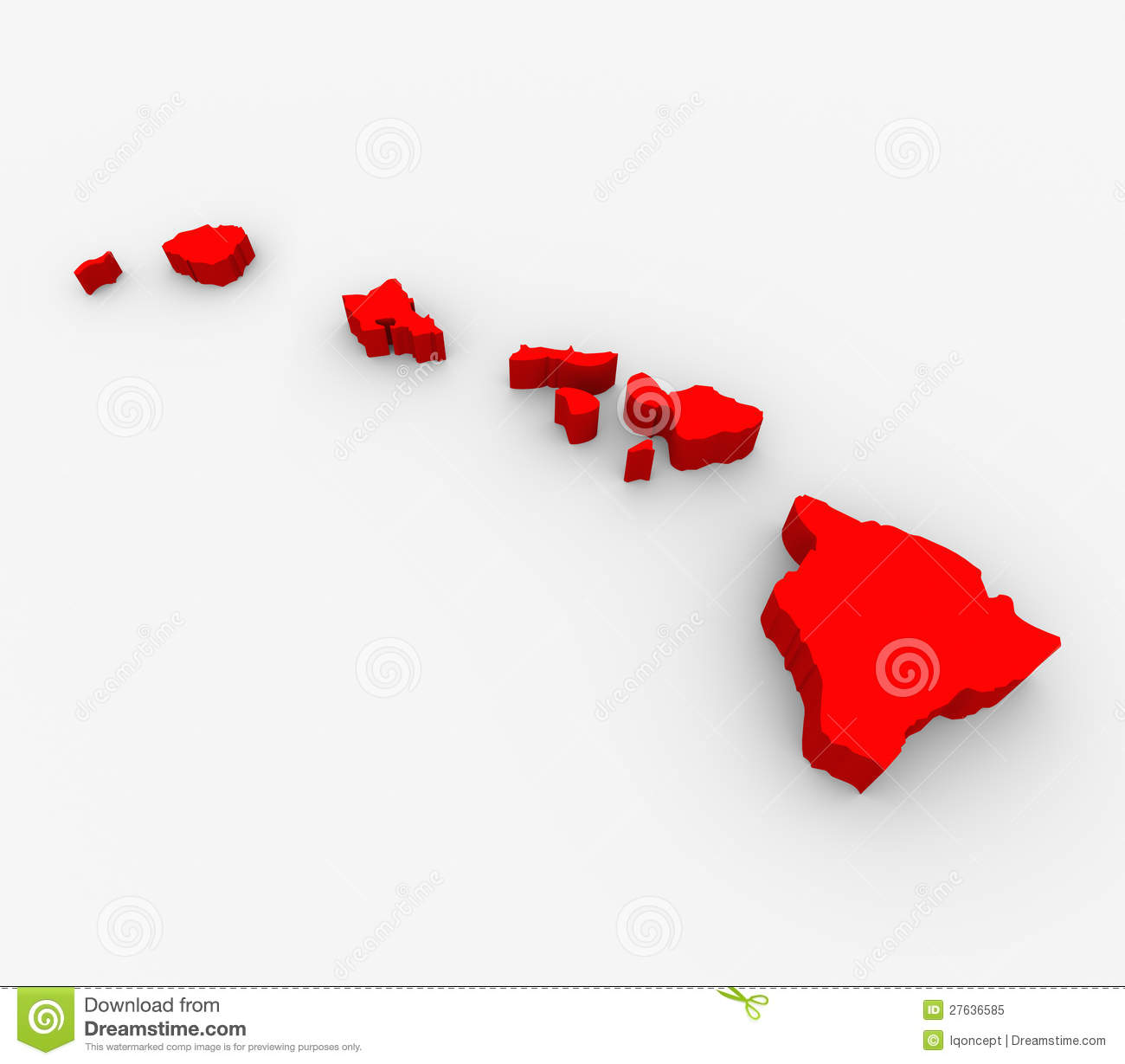 Hawaii State Map Stock Photography Image - Hawaii map usa states