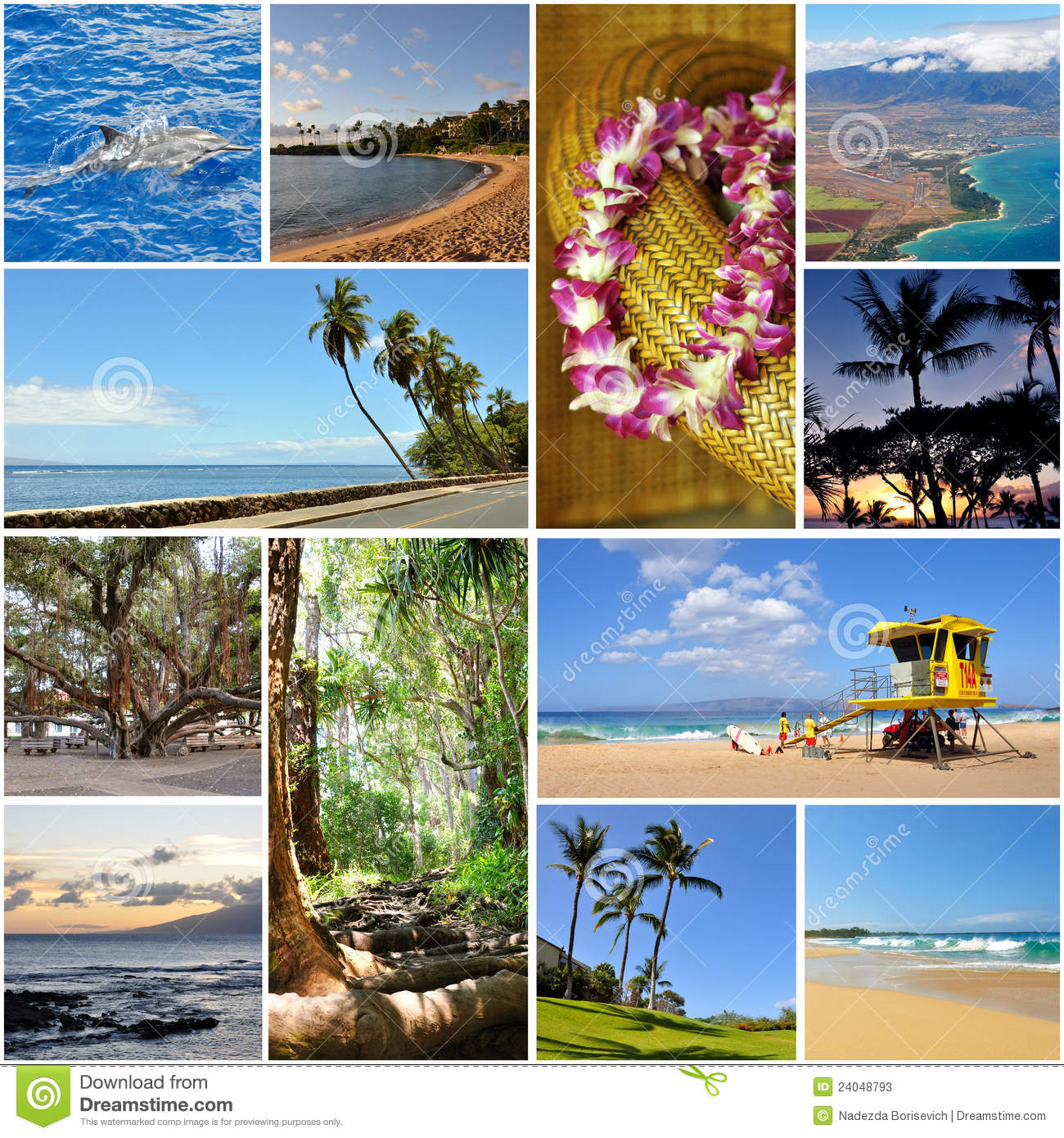 Hawaii Travel Collage Stock Photos - Image: 24048793