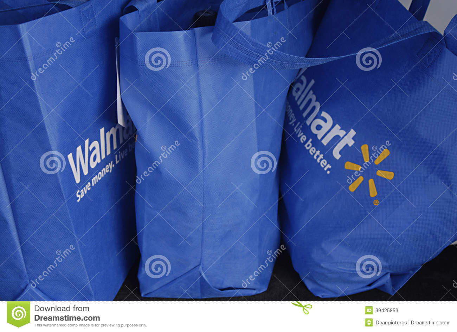 Hawaii Usa Walmart Shopping Bags Editorial Stock Photo