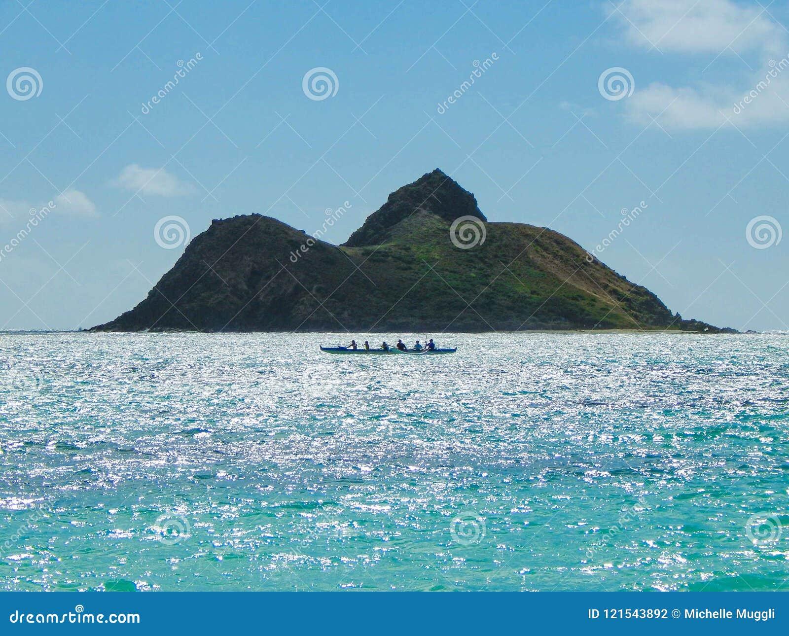 Hawaiiaanse Kano in Lanikai