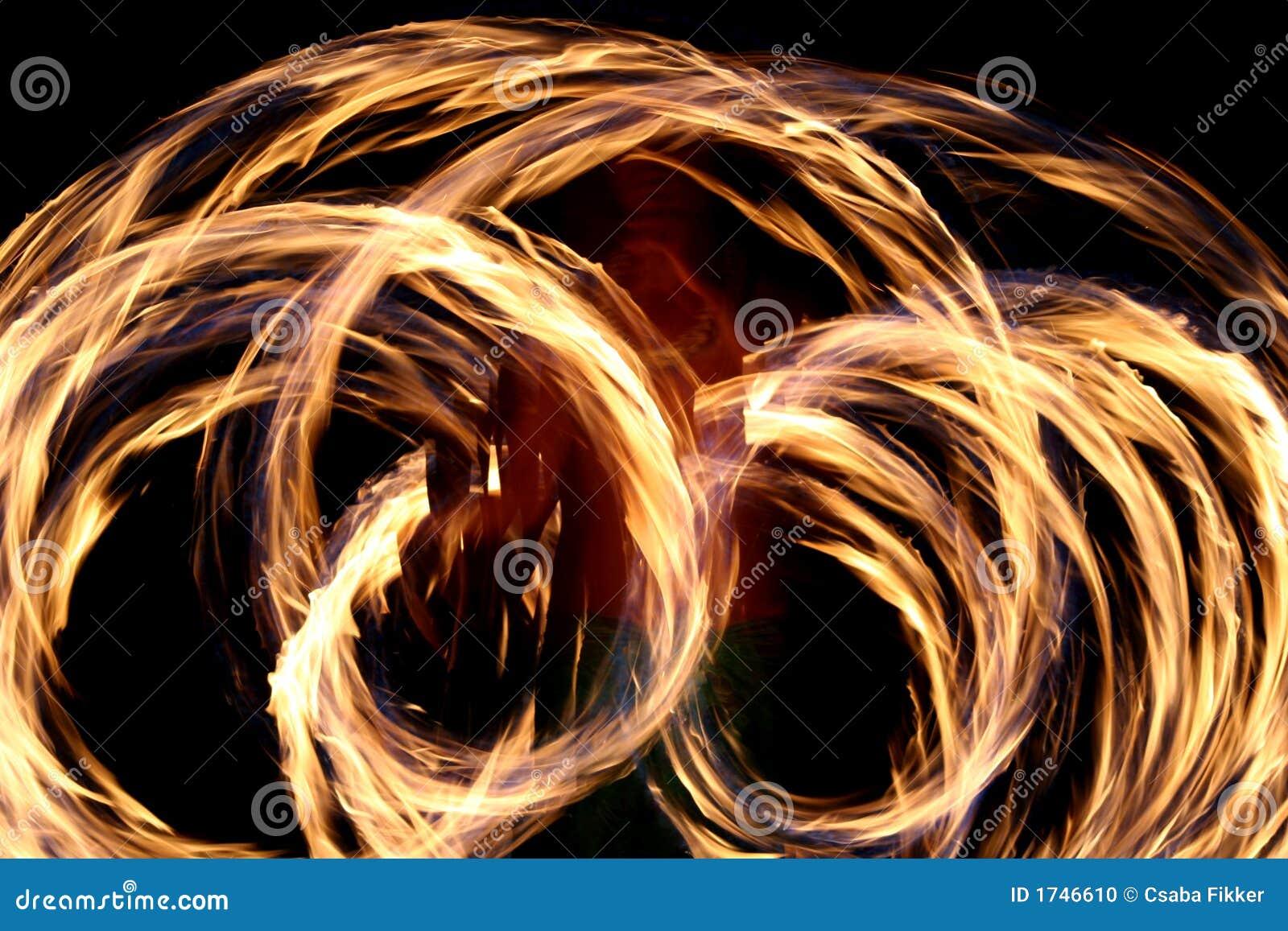 Hawaiian fire dancing