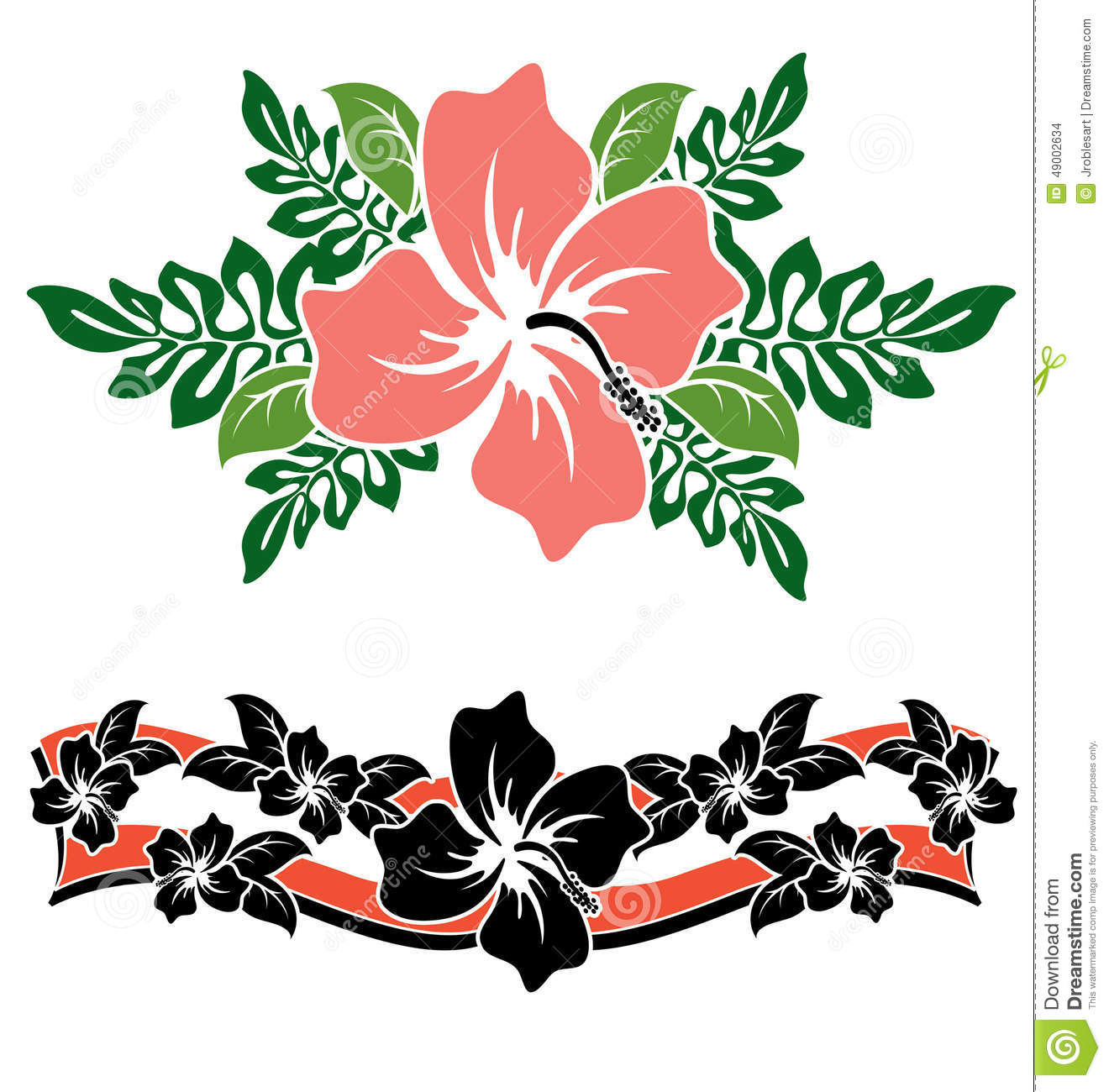 Hawaiian hibiscus flowers stock vector illustration of stencil download hawaiian hibiscus flowers stock vector illustration of stencil 49002634 izmirmasajfo