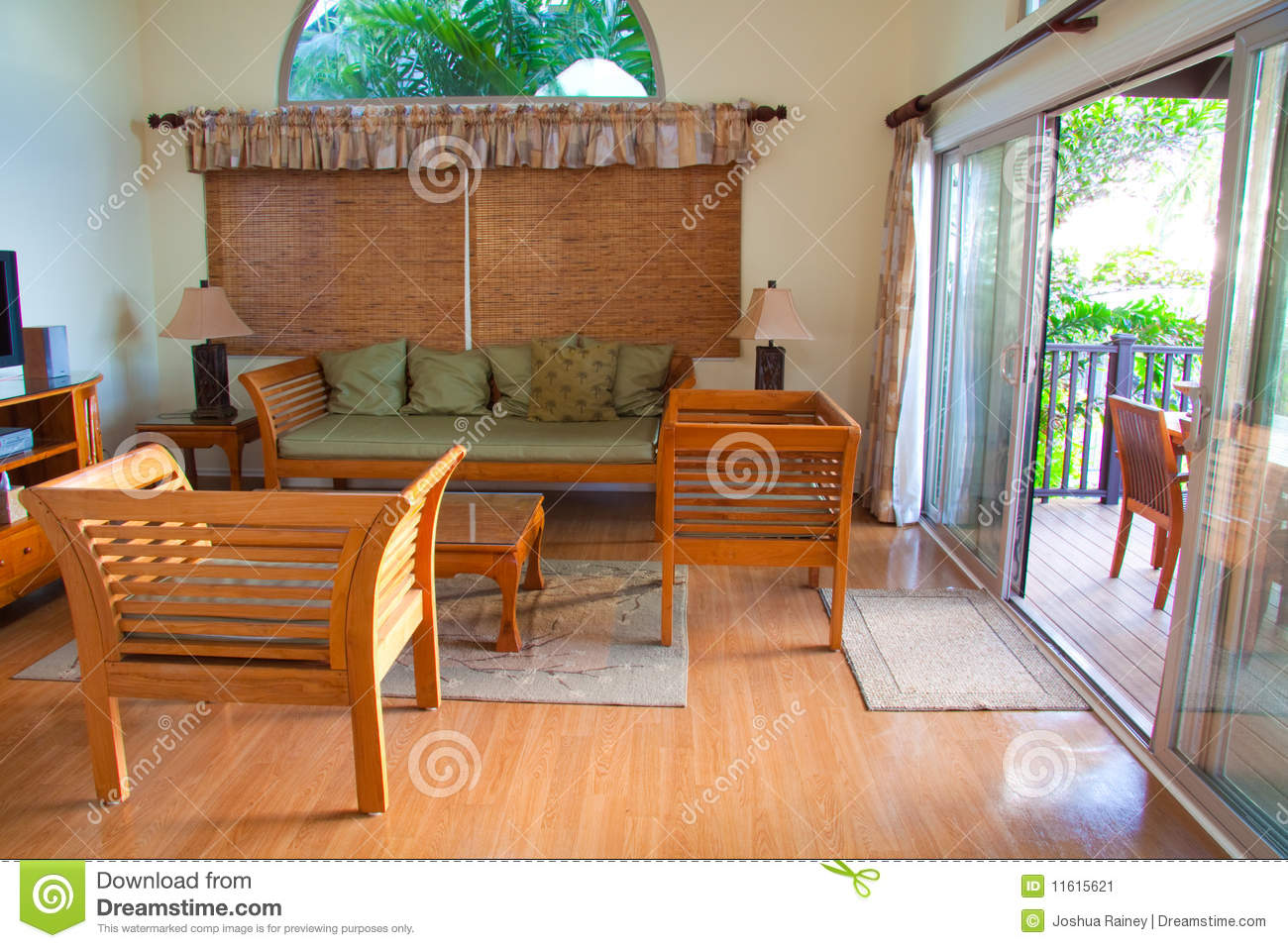 Hawaiian House Decor Stock Image. Image Of Rental, Travel