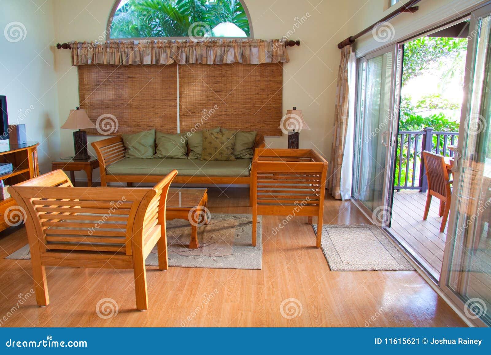 Hawaiian House Decor stock image. Image of rental