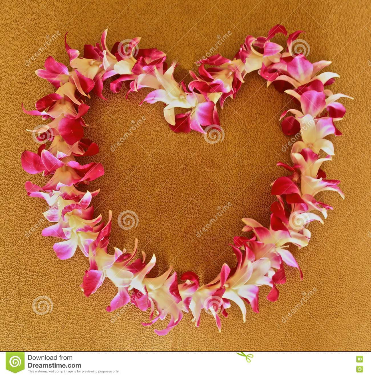 Hawaiian Lei Stock Image Image Of Heart White Shaped 79081423