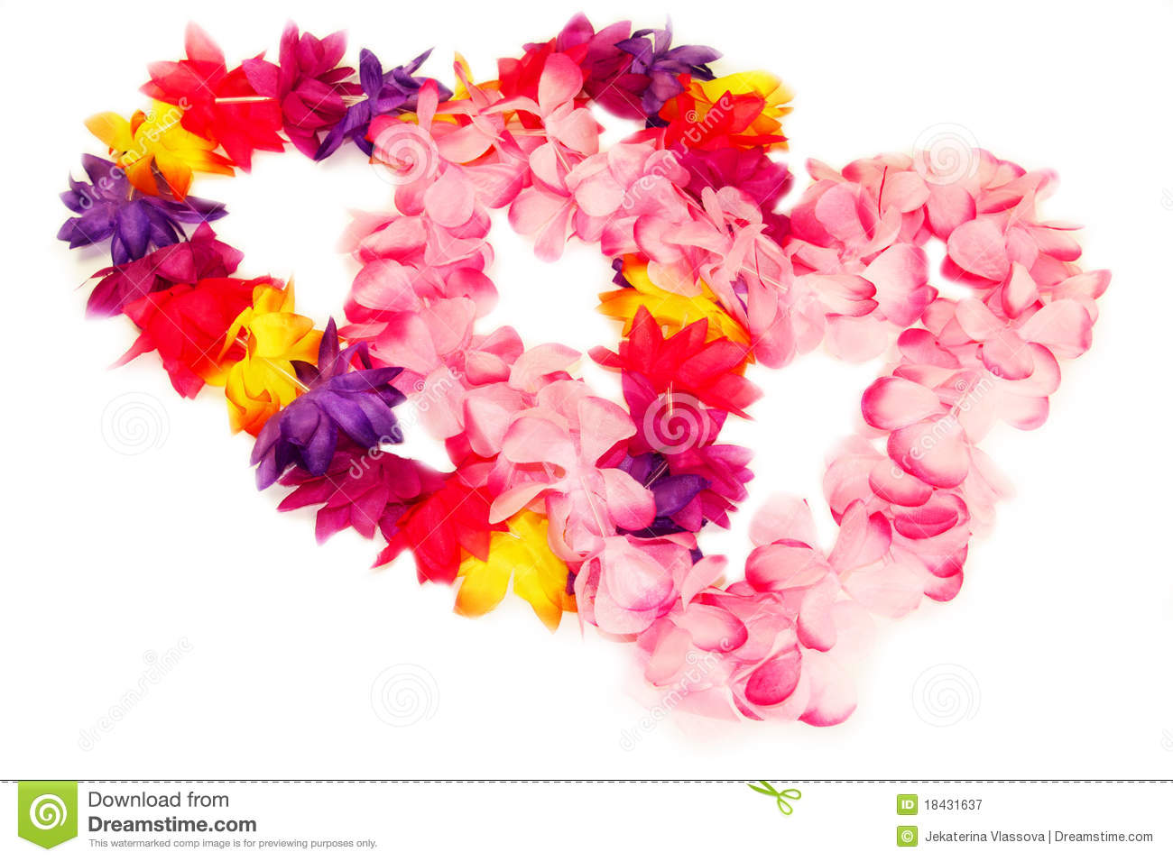 Hawaiian Leis In Heart Shape Stock Image Image Of Petal Hearts