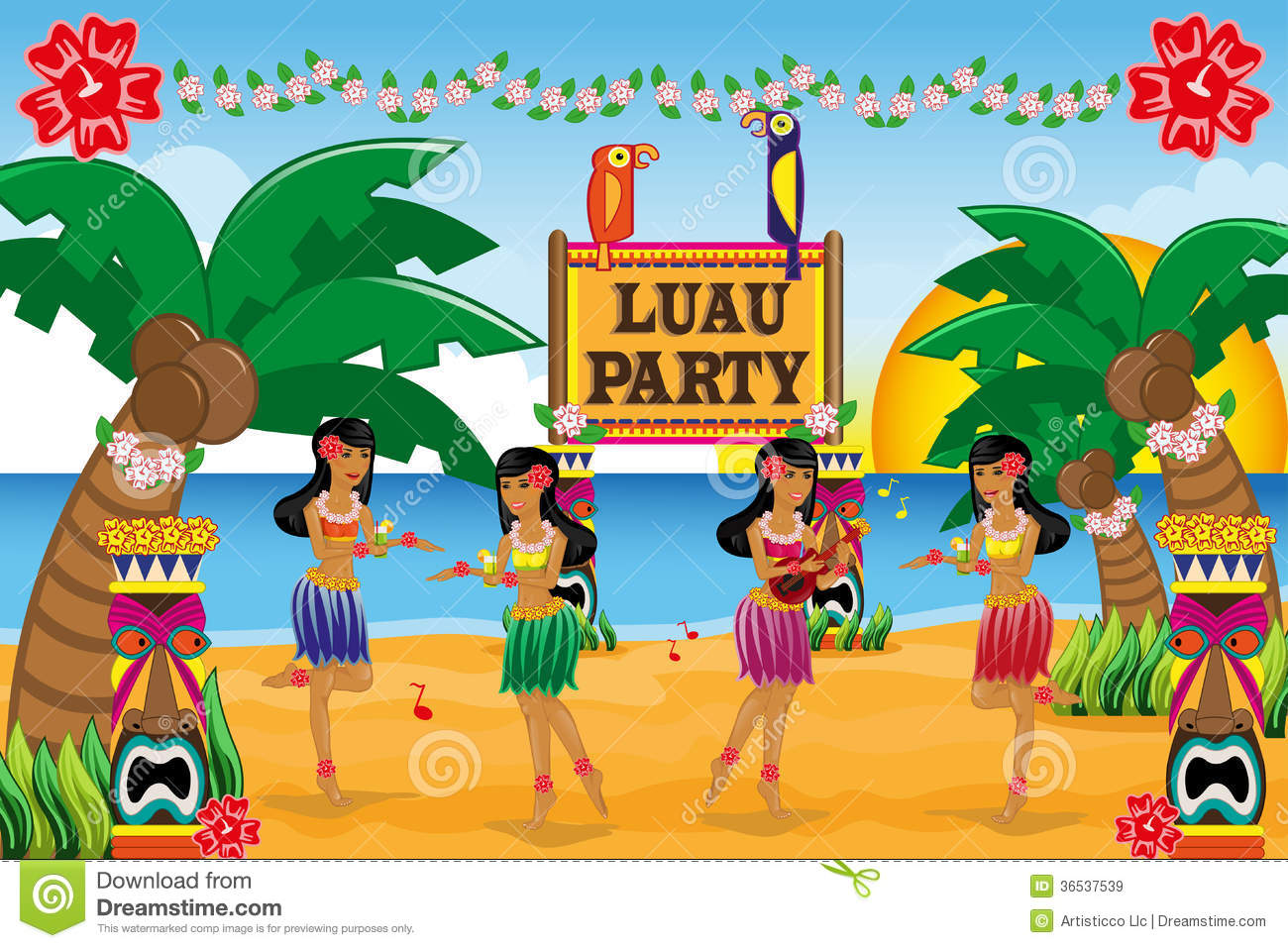 Hawaiian Luau Party Royalty Free Stock Images - Image: 36537539: https://www.dreamstime.com/royalty-free-stock-images-hawaiian-luau...