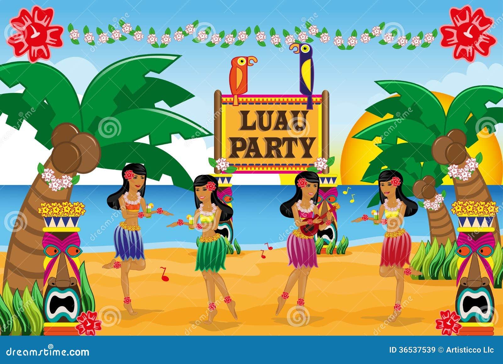 Hawaiian Invitation Cards with good invitation sample