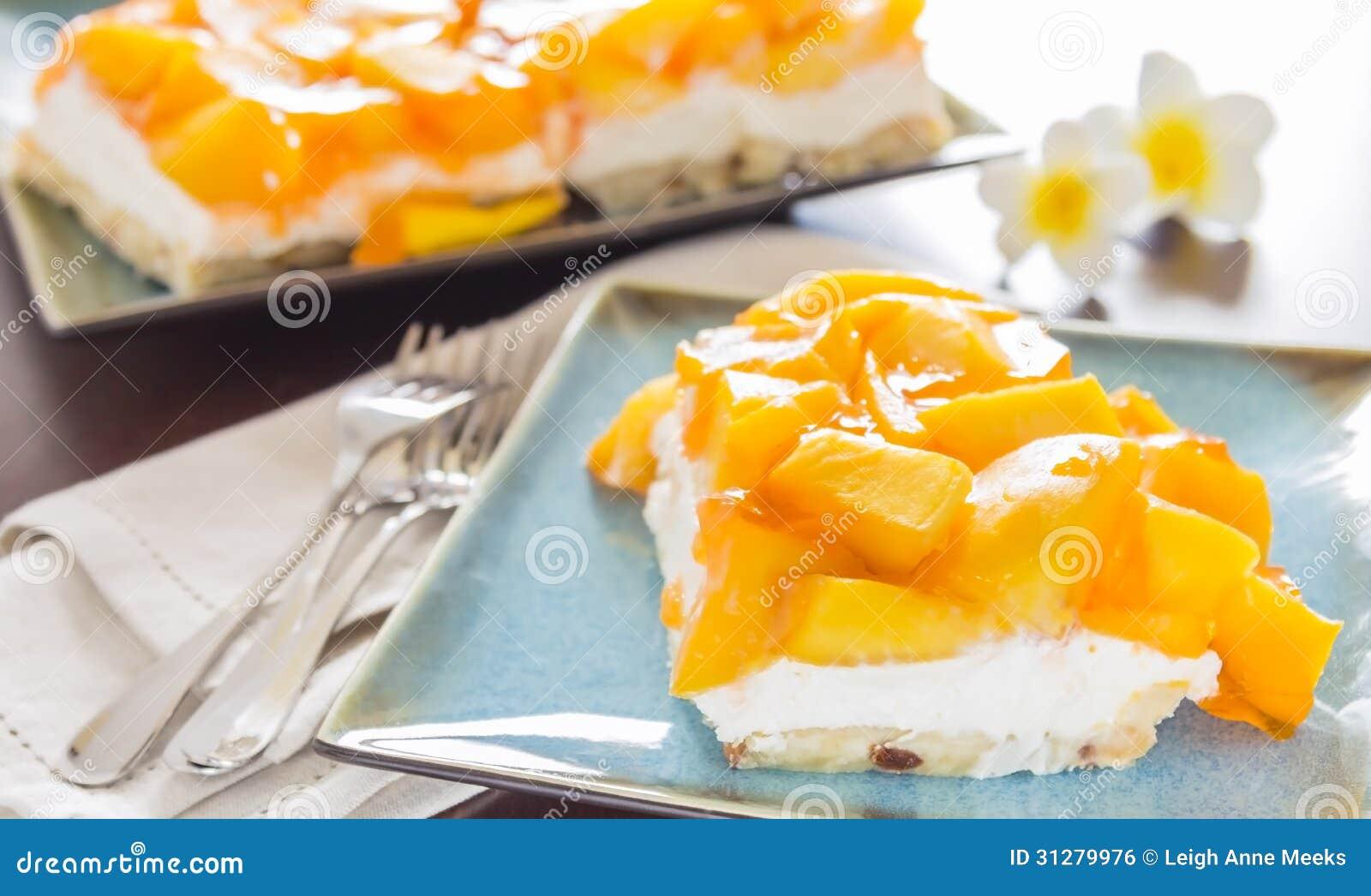 Hawaiian Mango Jello Cheesecake Stock Photo Image Of Sweet Jello
