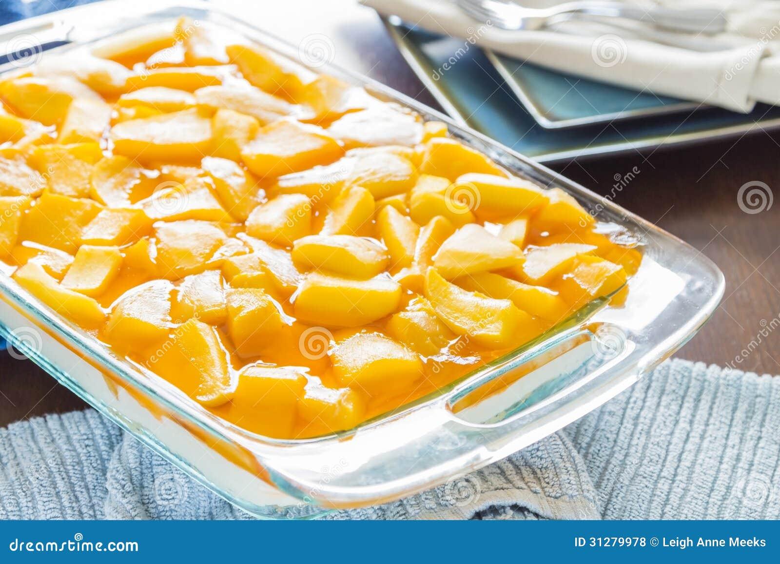 Hawaiian Mango Jello Cheesecake Stock Photo Image Of Sweet