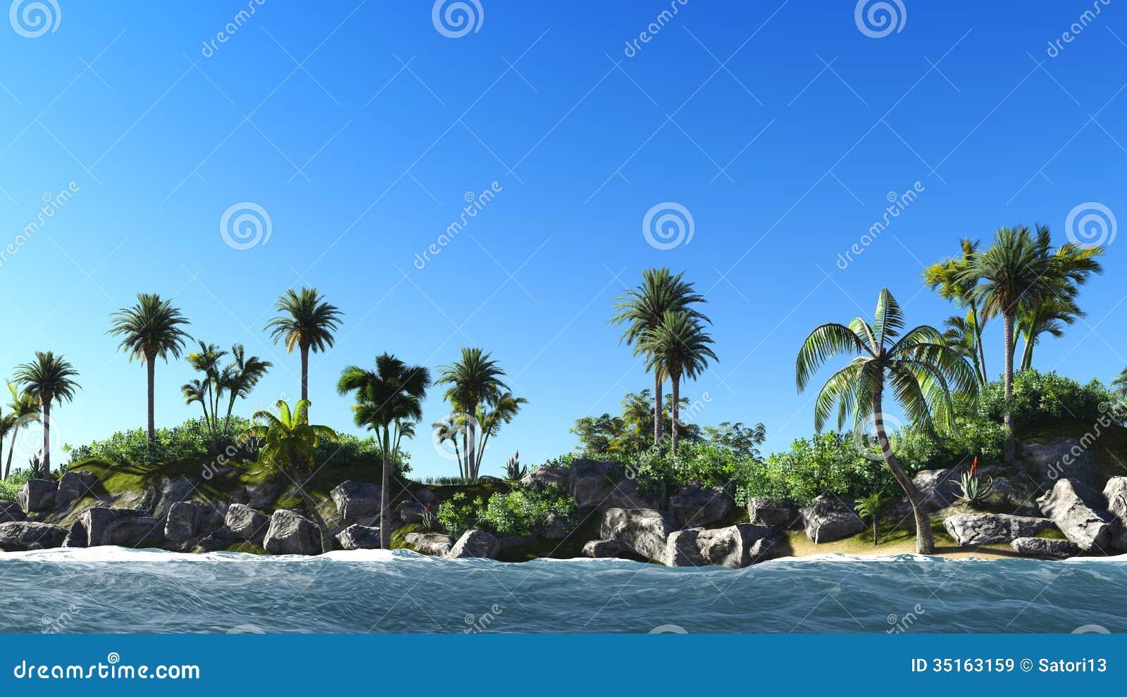 Tropical Island Sun: Hawaiian Paradise Royalty Free Stock Images