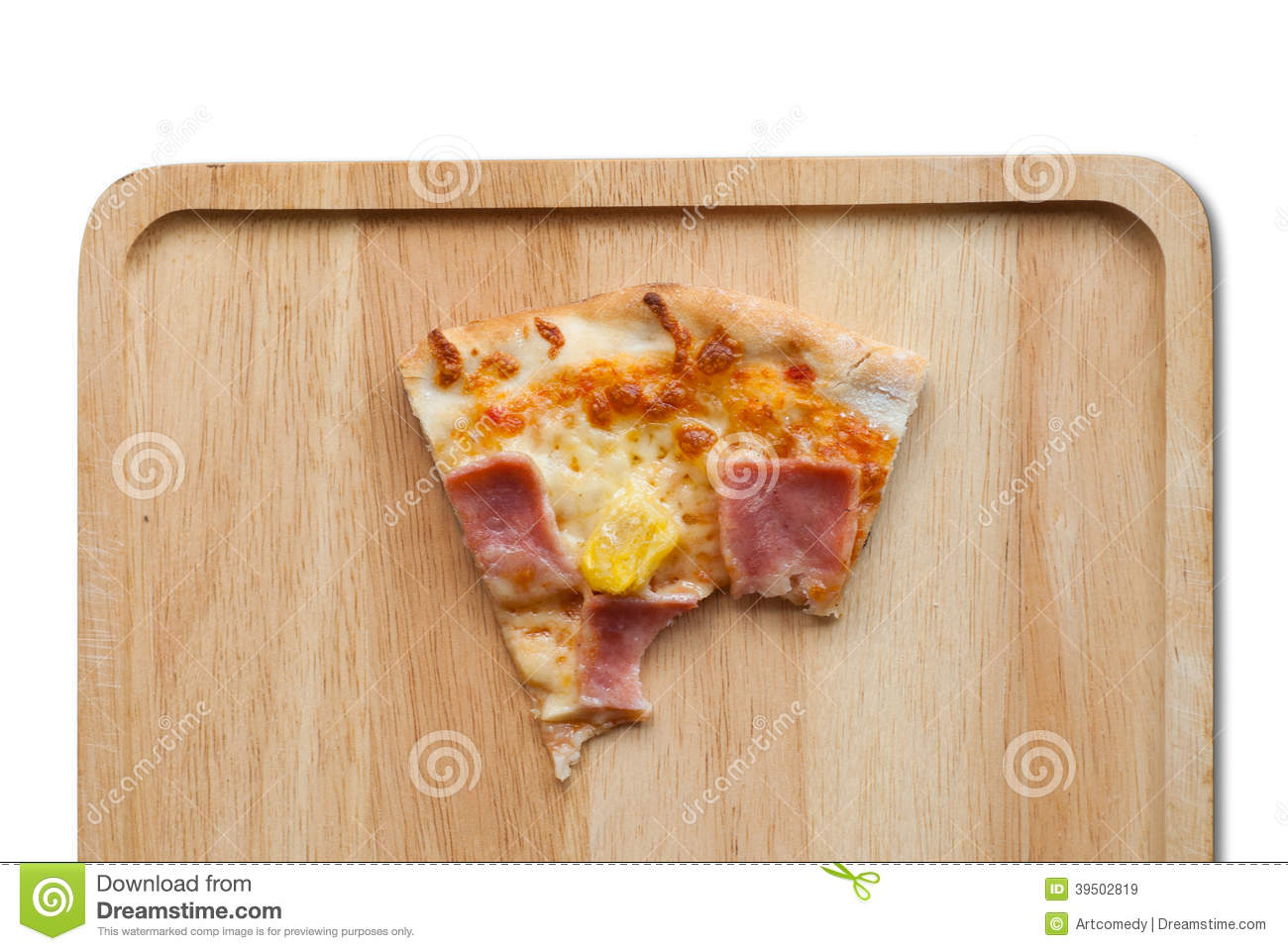 Hawaiian Pizza , pineapple , ham and cheese