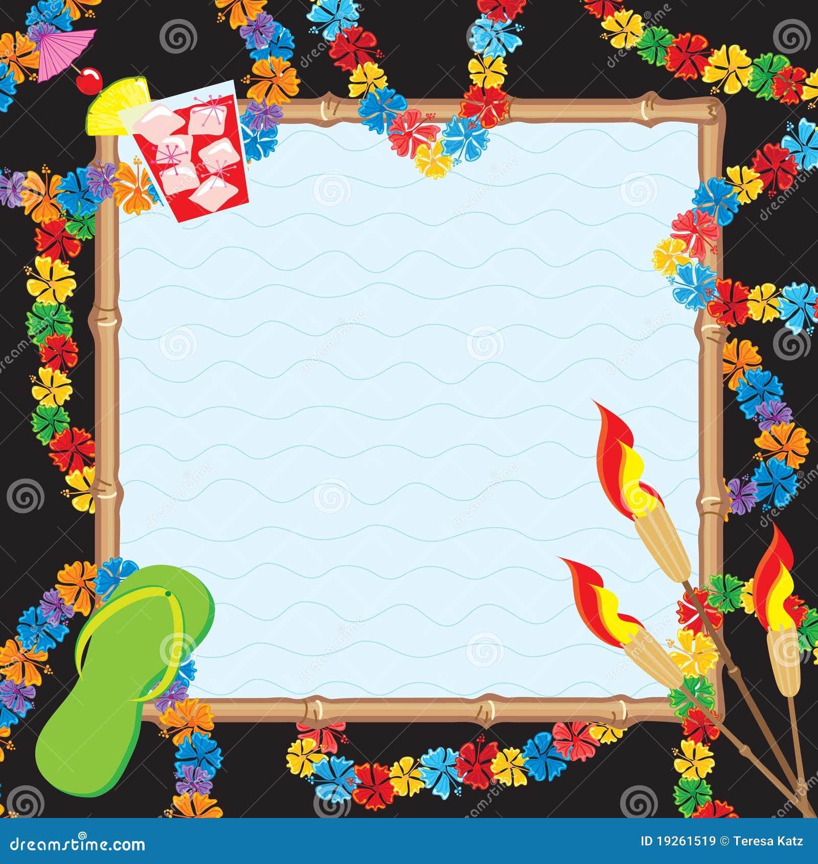 Hawaiian Pool Party Invitation Stock Vector - Illustration of ...