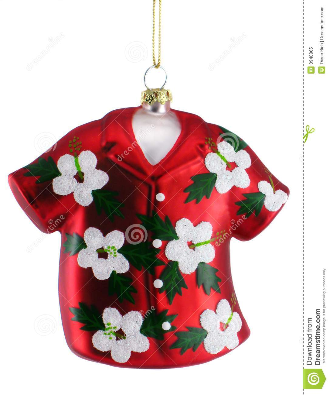 hawaiian shirt christmas ornament