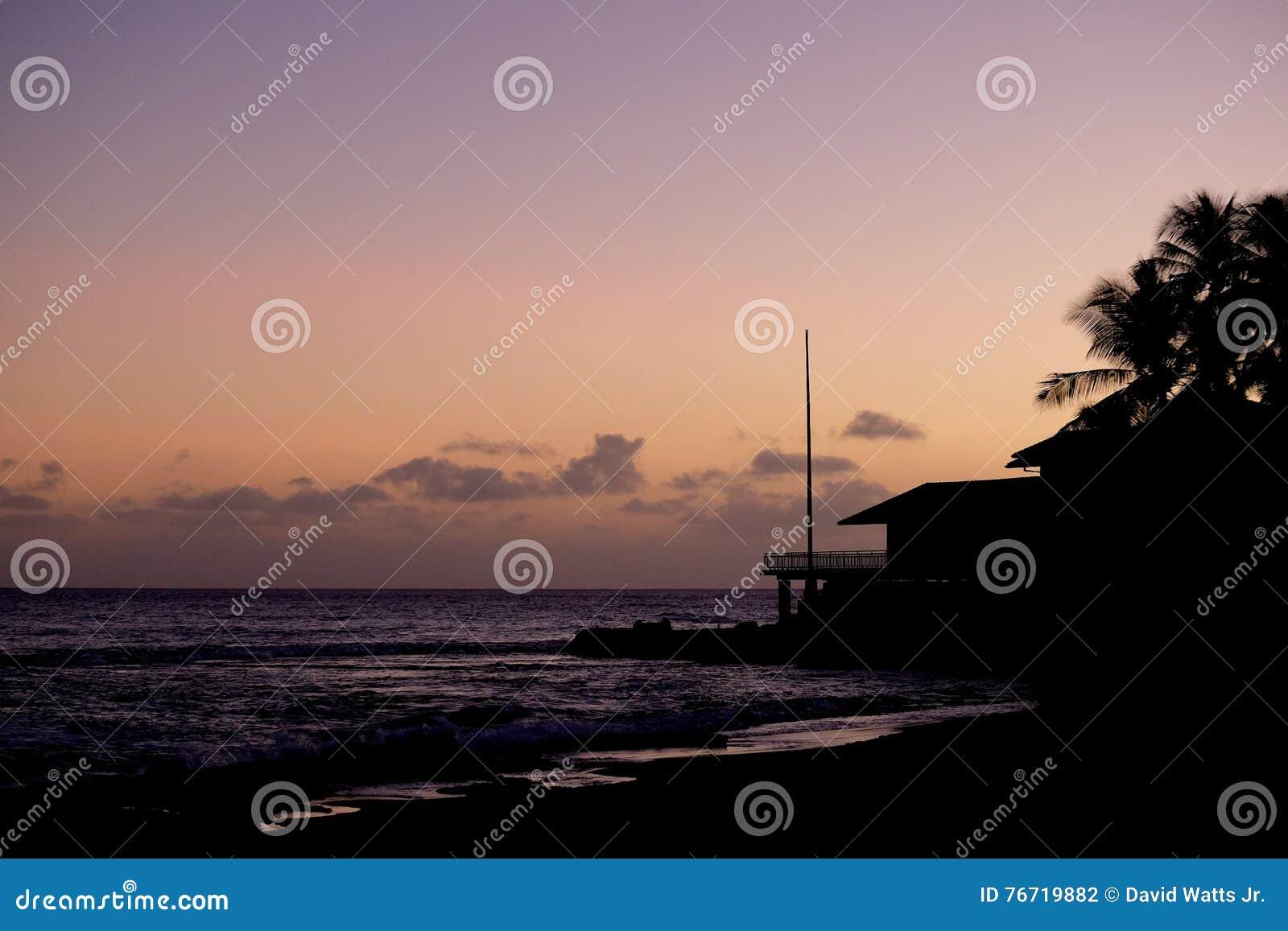 Hawaiian silhouette sunset