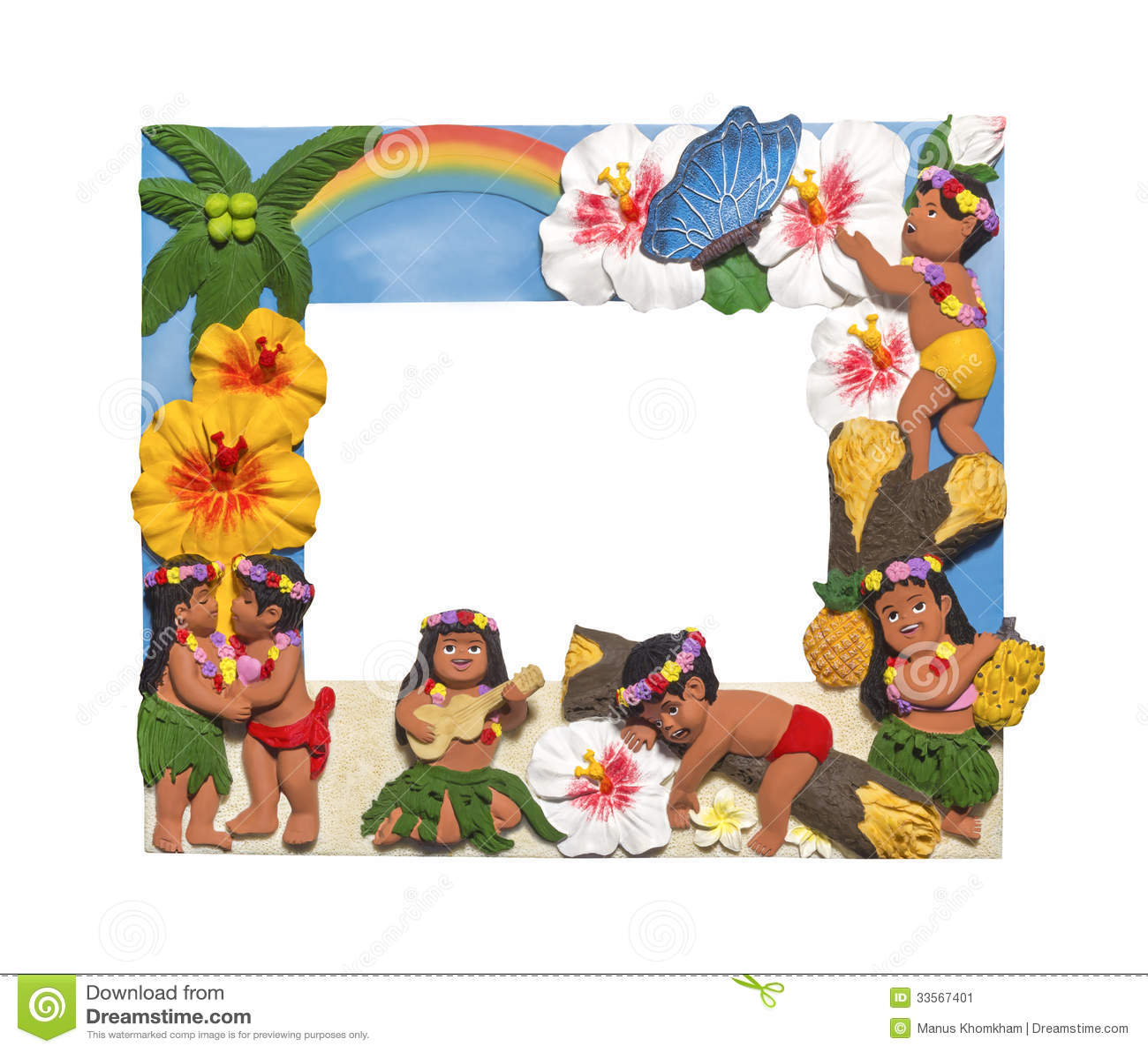 Hawaiian Style Frame Stock Image Of Lifestyle