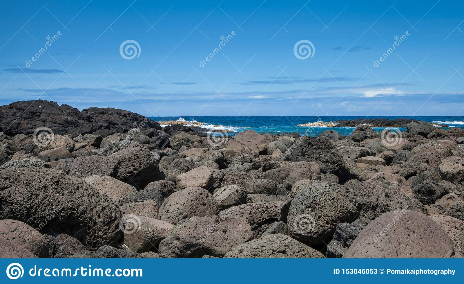 Hawaje lawy skały wybrzeże głazy Tworzący wulkanem