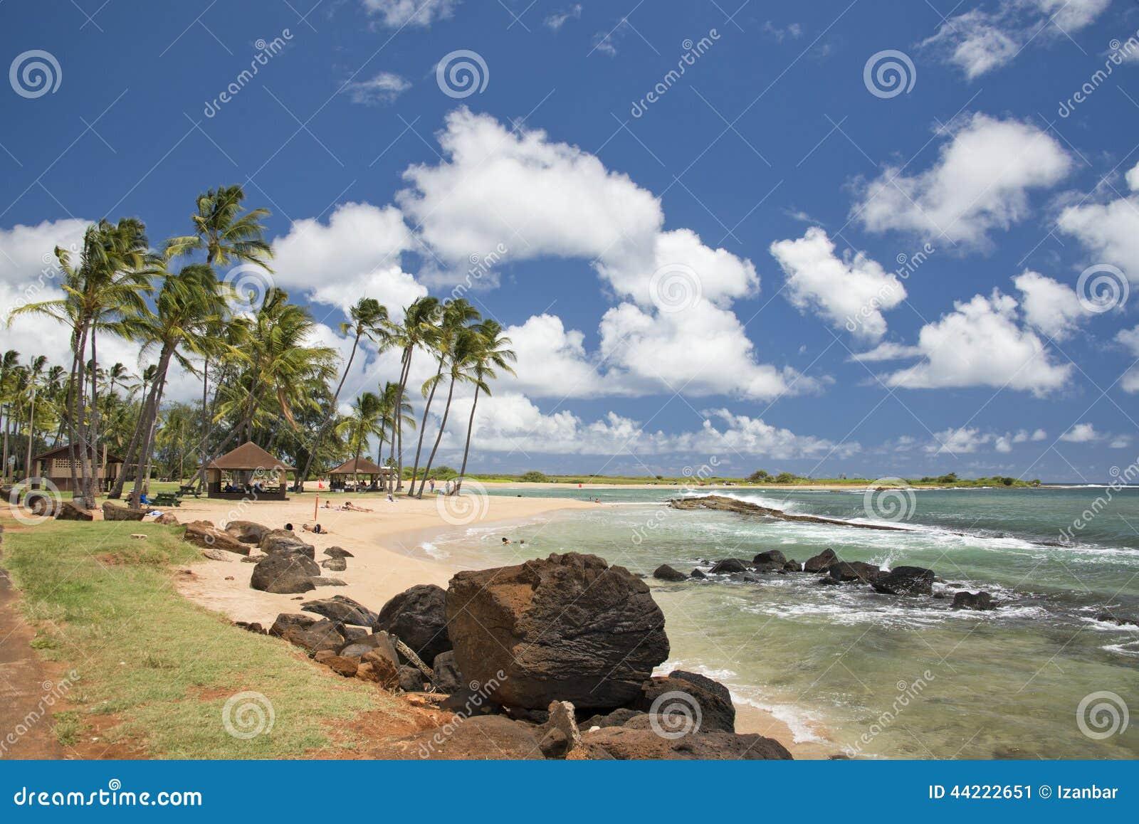 Hawaje Poipu plaży krajobraz
