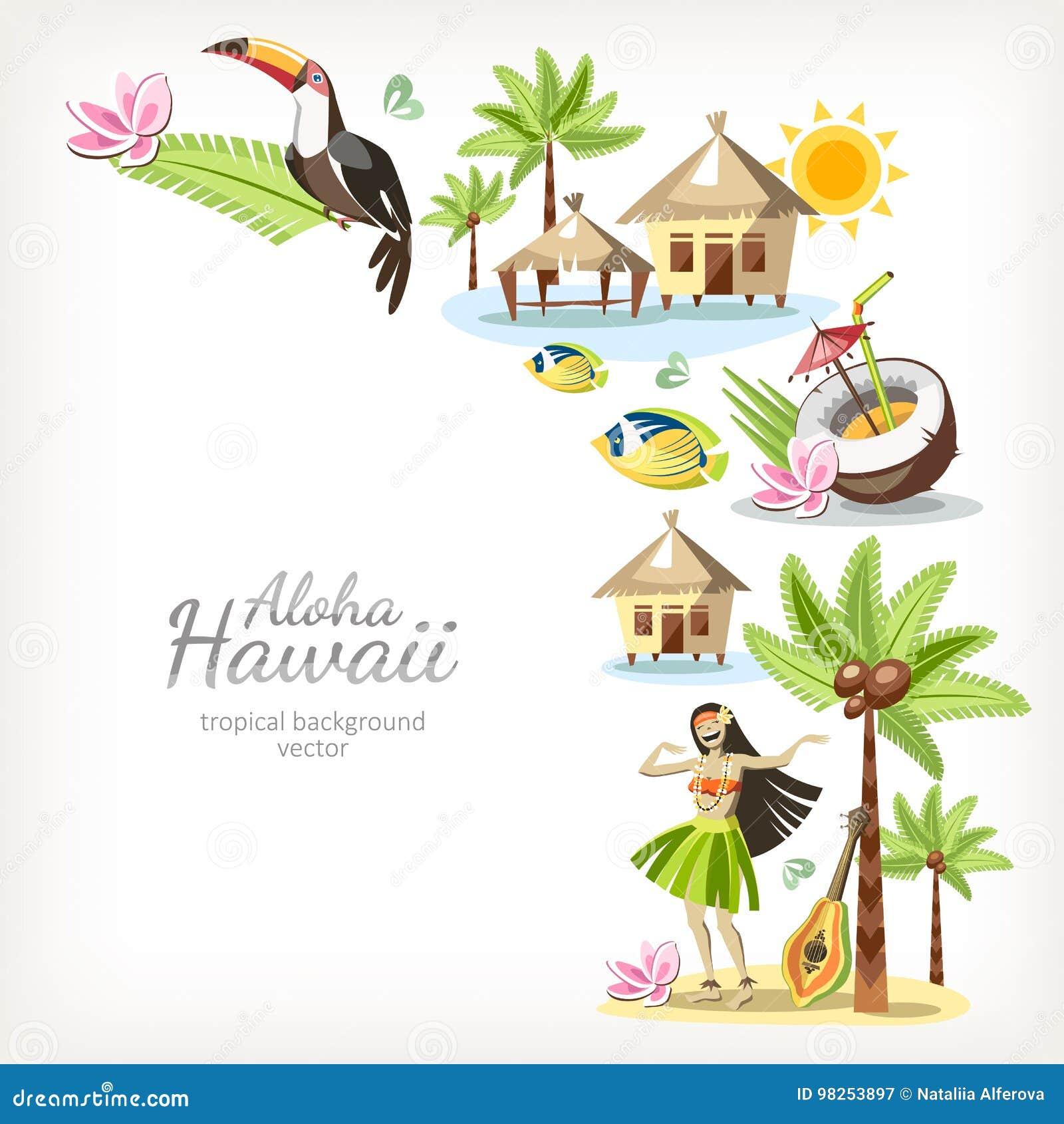Hawaje tło aloha