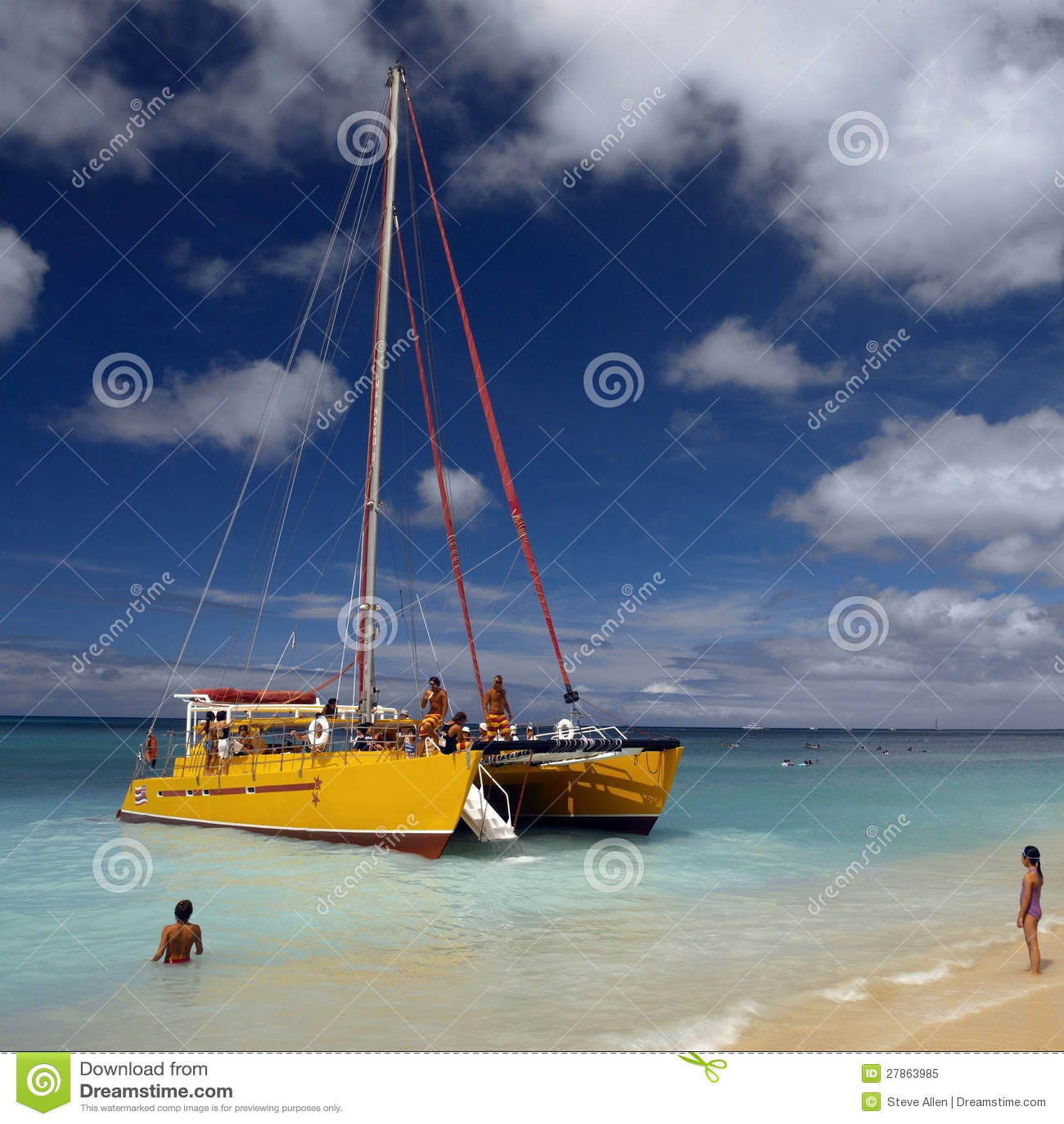 Hawaje Waikiki Plaża -