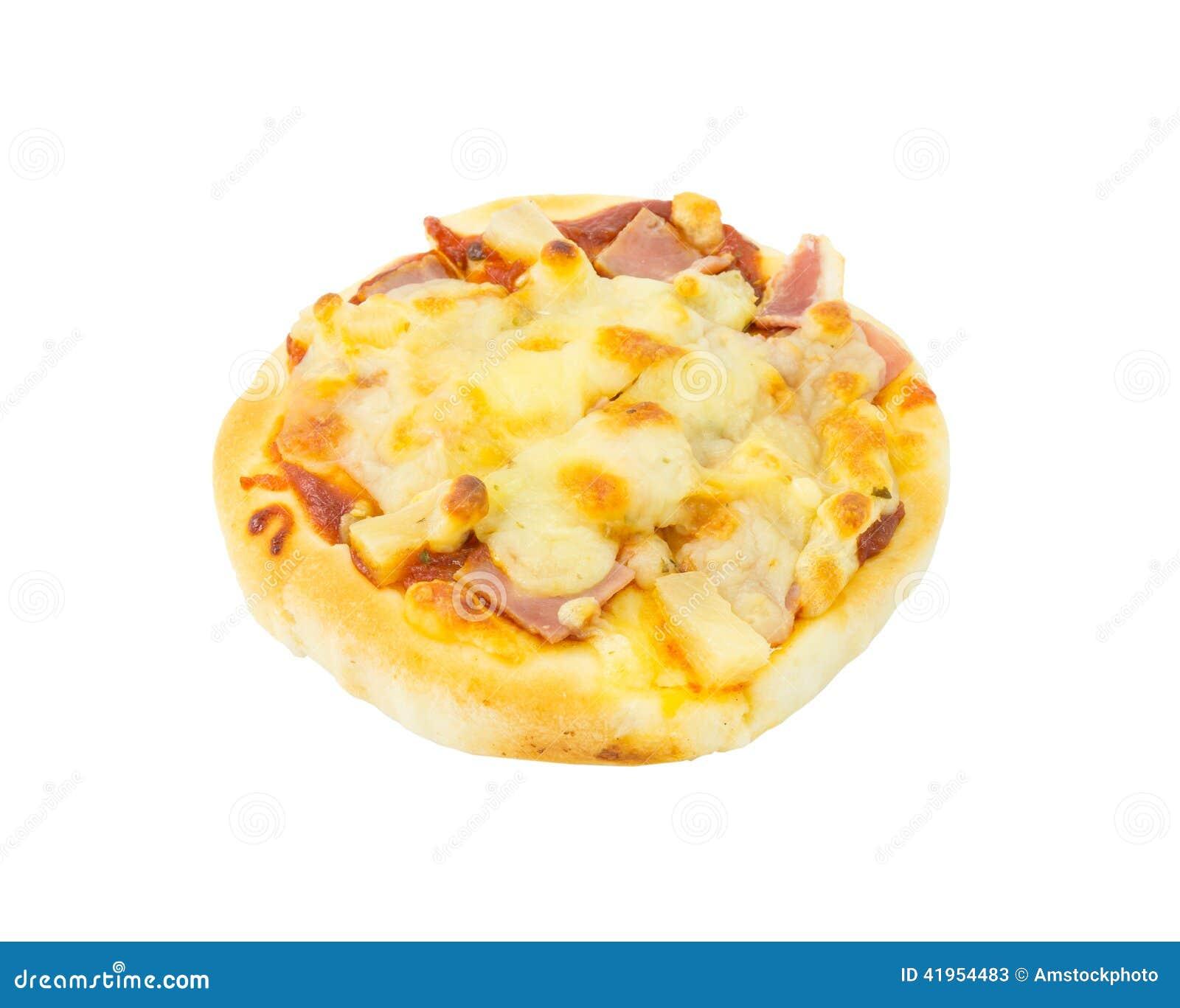 Hawajska pizza na białym tle