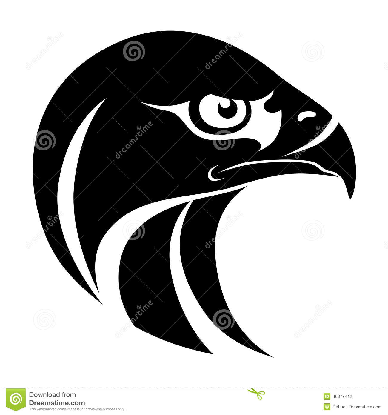 Hawk Head Symbol Stock Vector - Image: 46379412