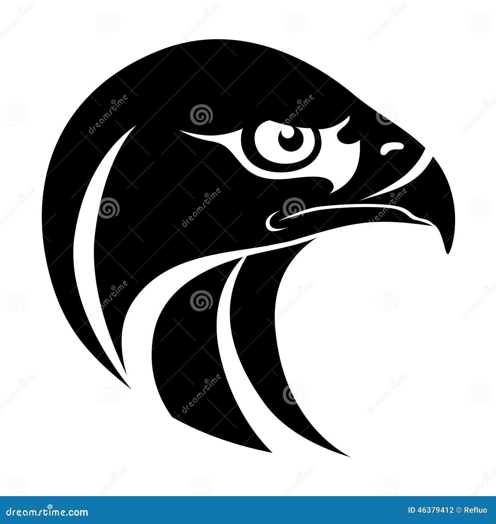 hawk head symbol stock vector image 46379412 eagle school mascot clipart eagle football mascot clipart