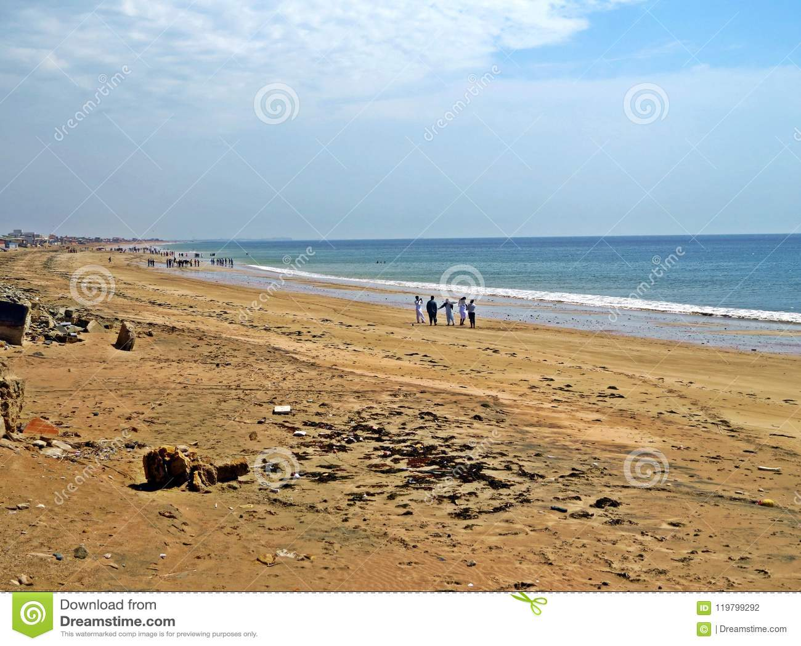 Hawkesbay, Karachi, Arabian Sea, Pakistan Stock Photo