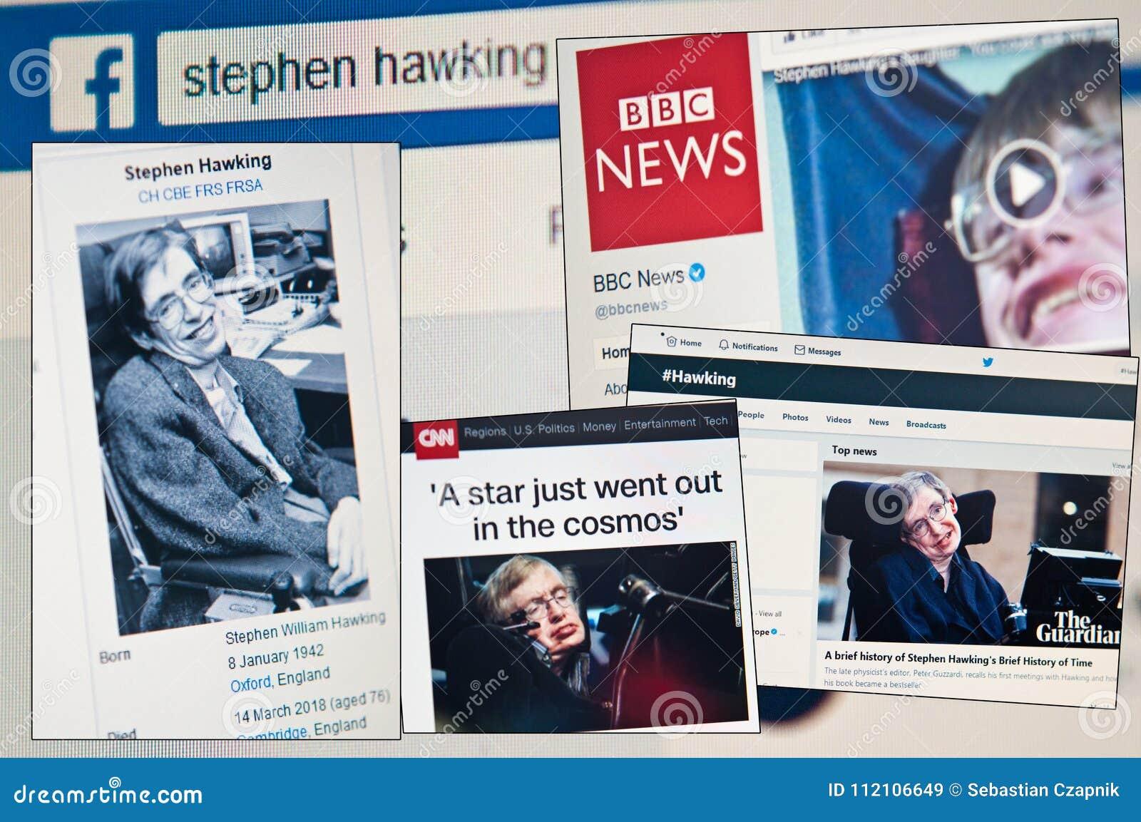 Hawking του Stephen κύβοι ηλικίας 76