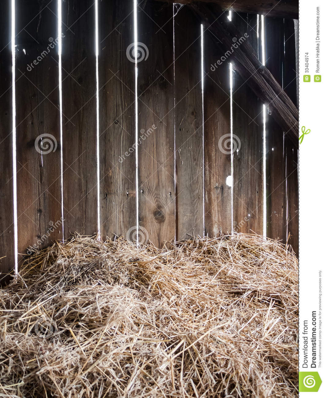 Hay Barn Stock Photo Image Of Indoor Natural Barn